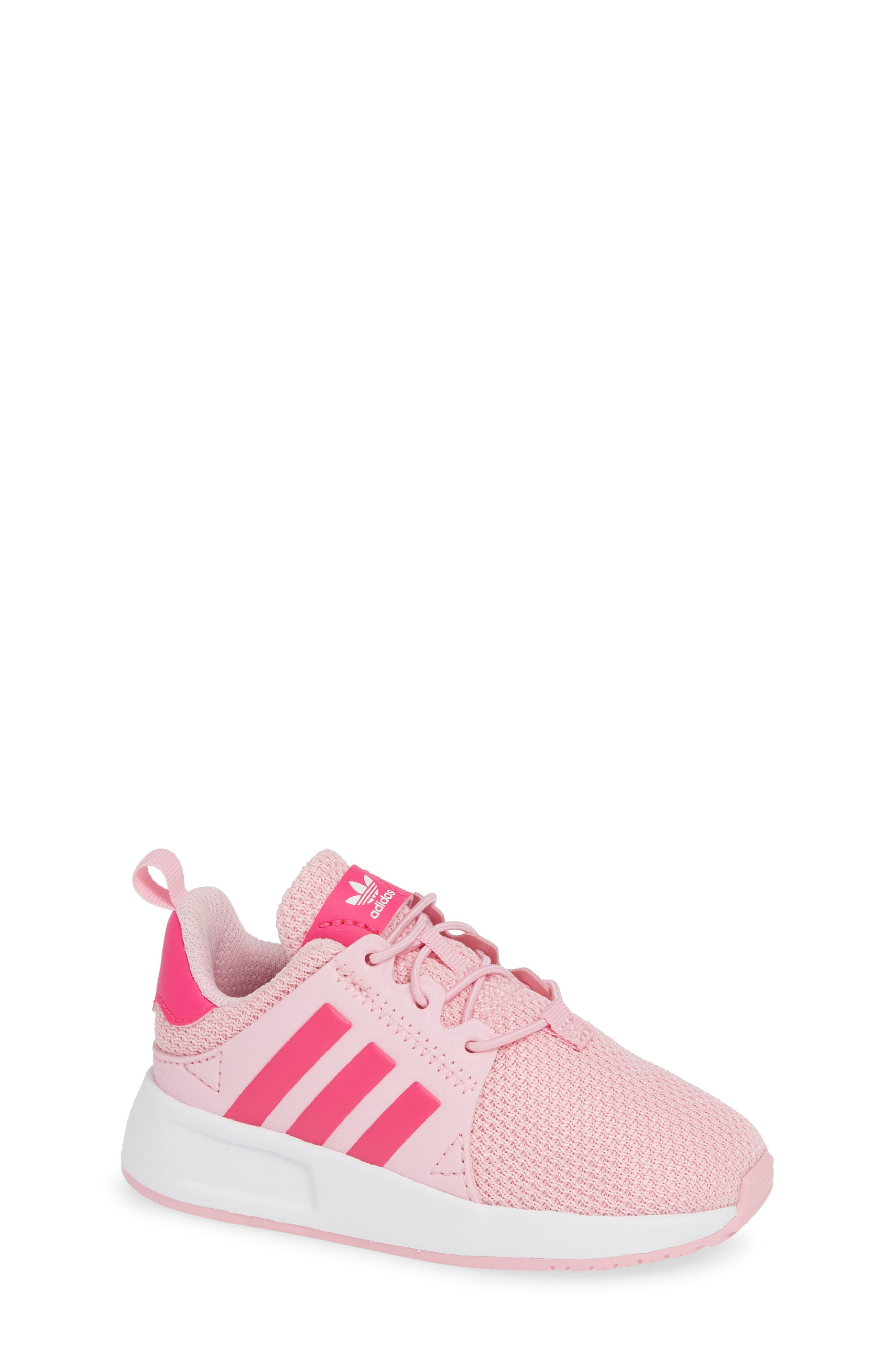 ADIDAS,                             X_PLR Sneaker,                             Main thumbnail 1, color,                             TRUE PINK/ SHOCK PINK/ WHITE