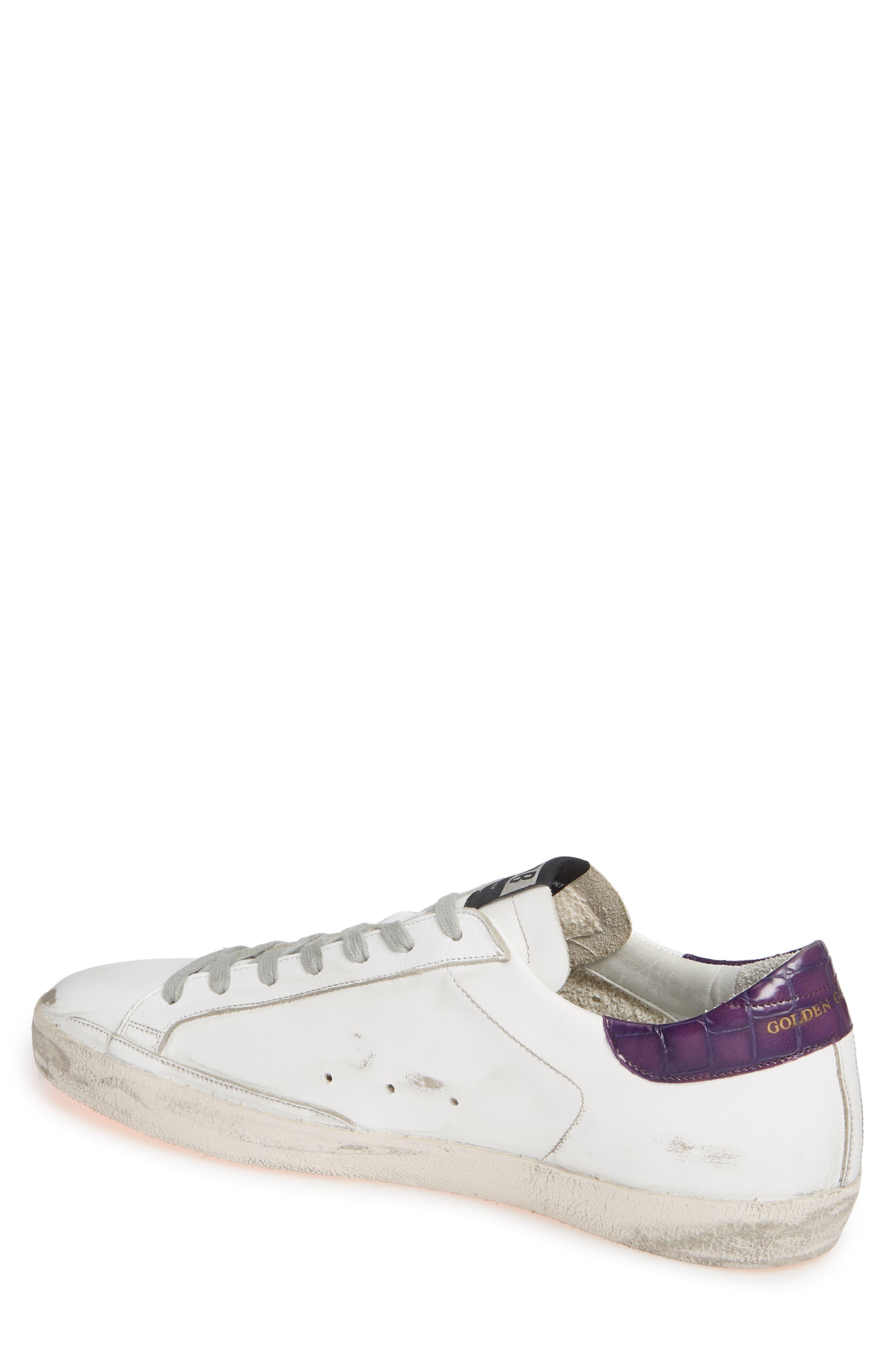 GOLDEN GOOSE,                             'Superstar' Sneaker,                             Alternate thumbnail 2, color,                             WHITE/ VIOLET