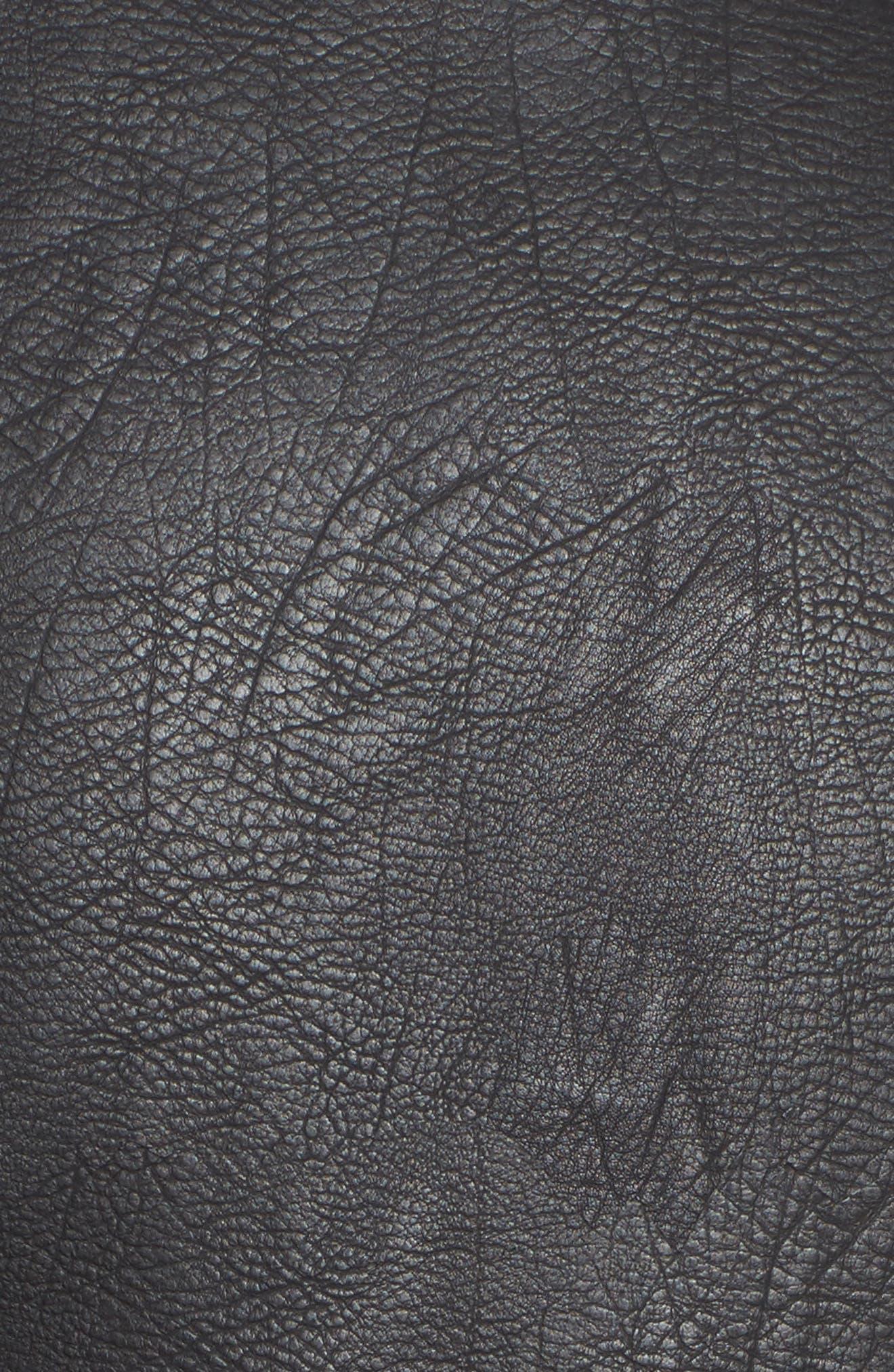 Oversize Faux Leather Moto Jacket,                             Alternate thumbnail 6, color,                             001