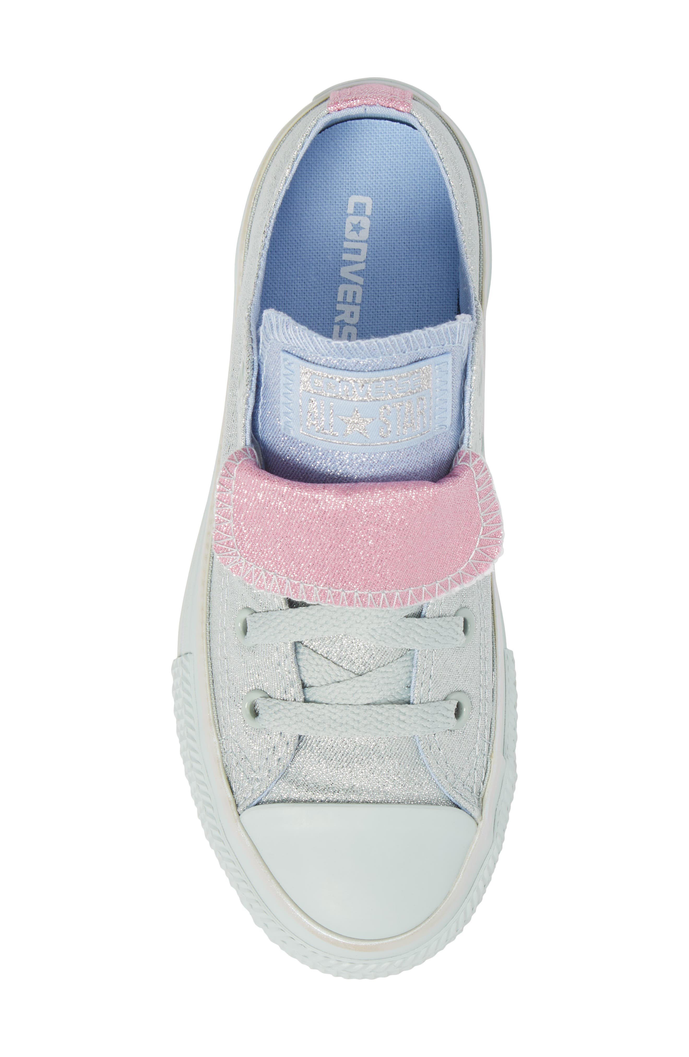 All Star<sup>®</sup> Shimmer Double Tongue Sneaker,                             Alternate thumbnail 5, color,                             301