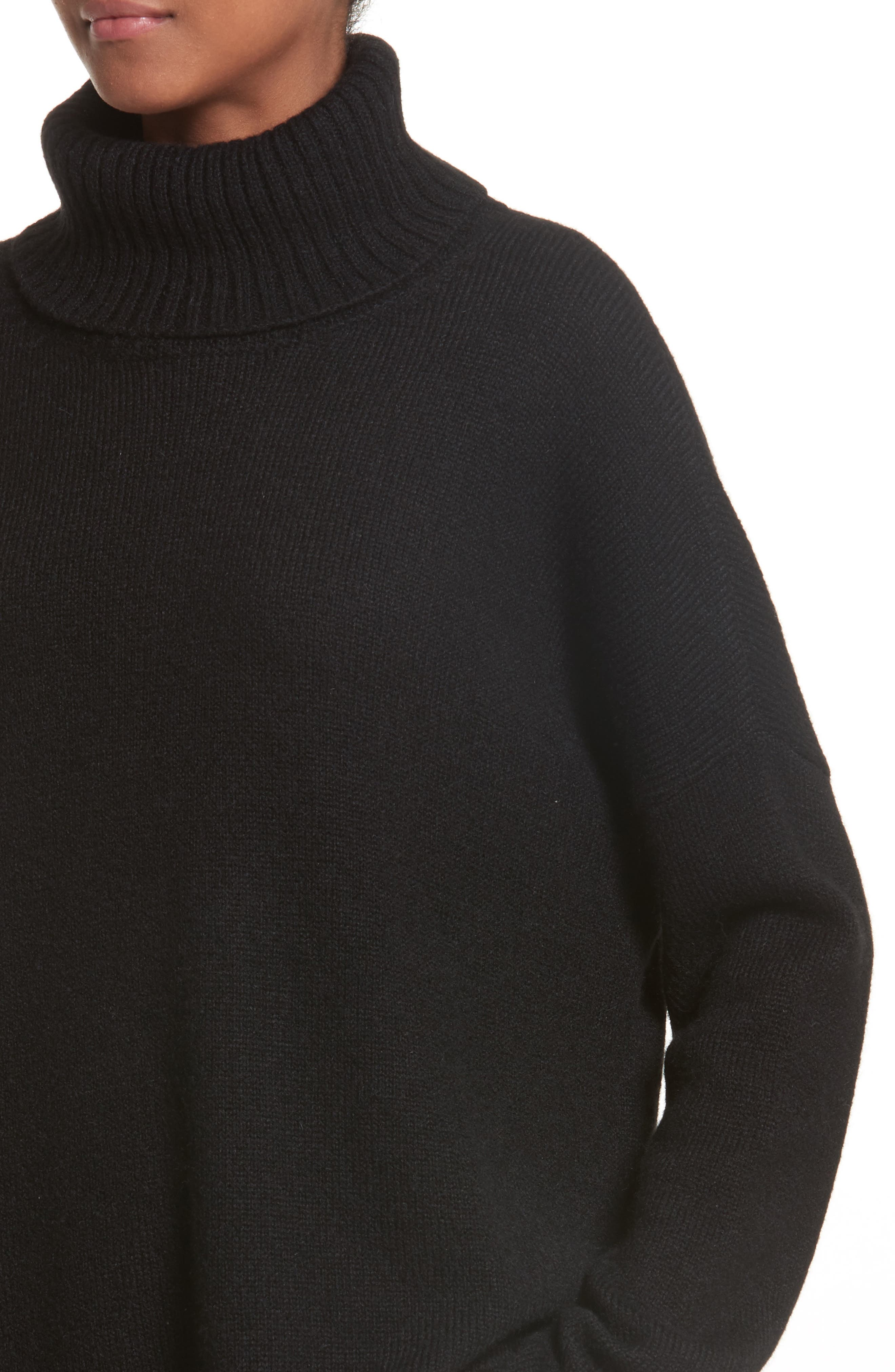 Alpaca Turtleneck Sweater,                             Alternate thumbnail 4, color,                             001