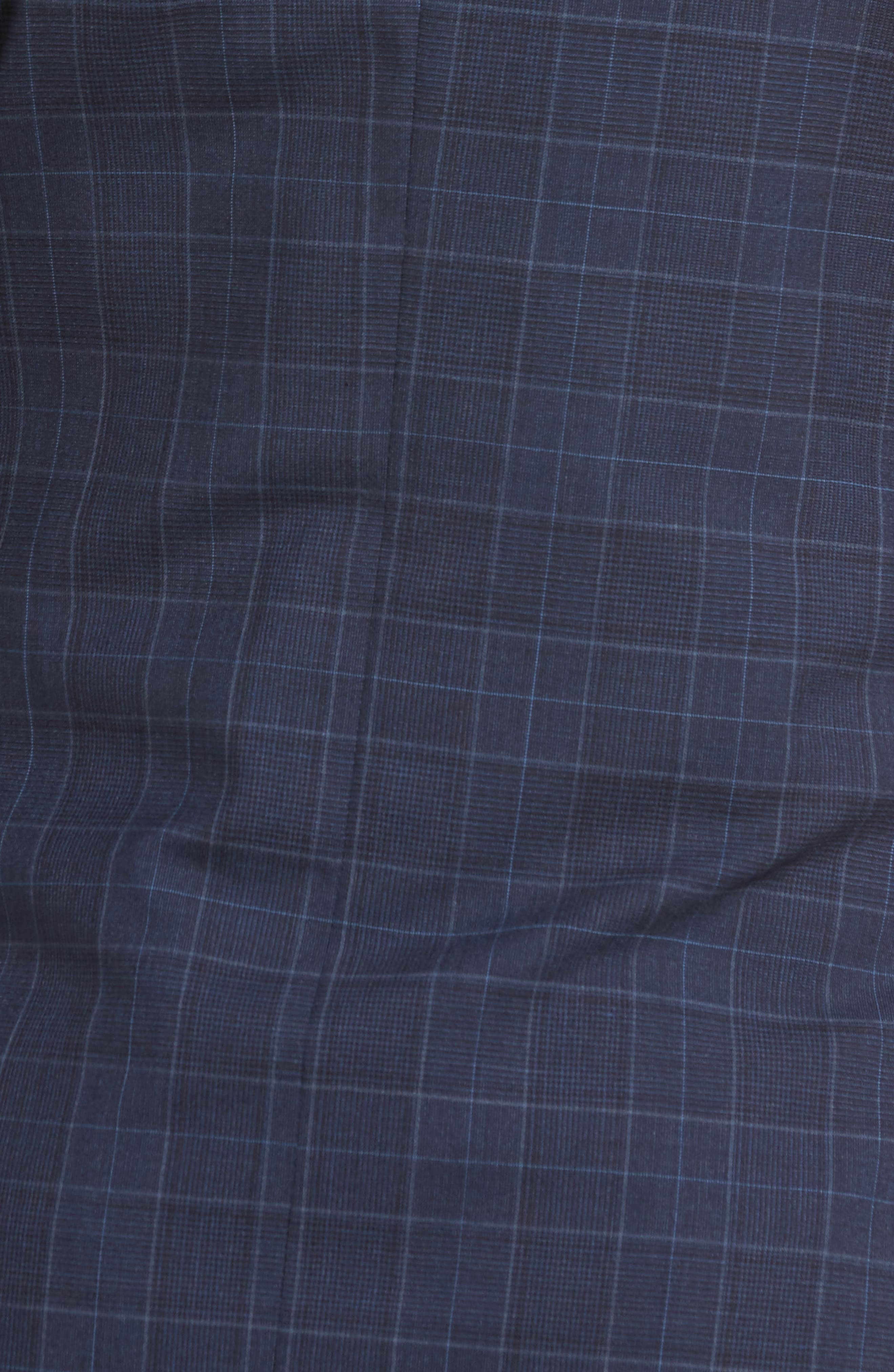 HICKEY FREEMAN,                             Classic B Fit Plaid Wool Suit,                             Alternate thumbnail 7, color,                             400