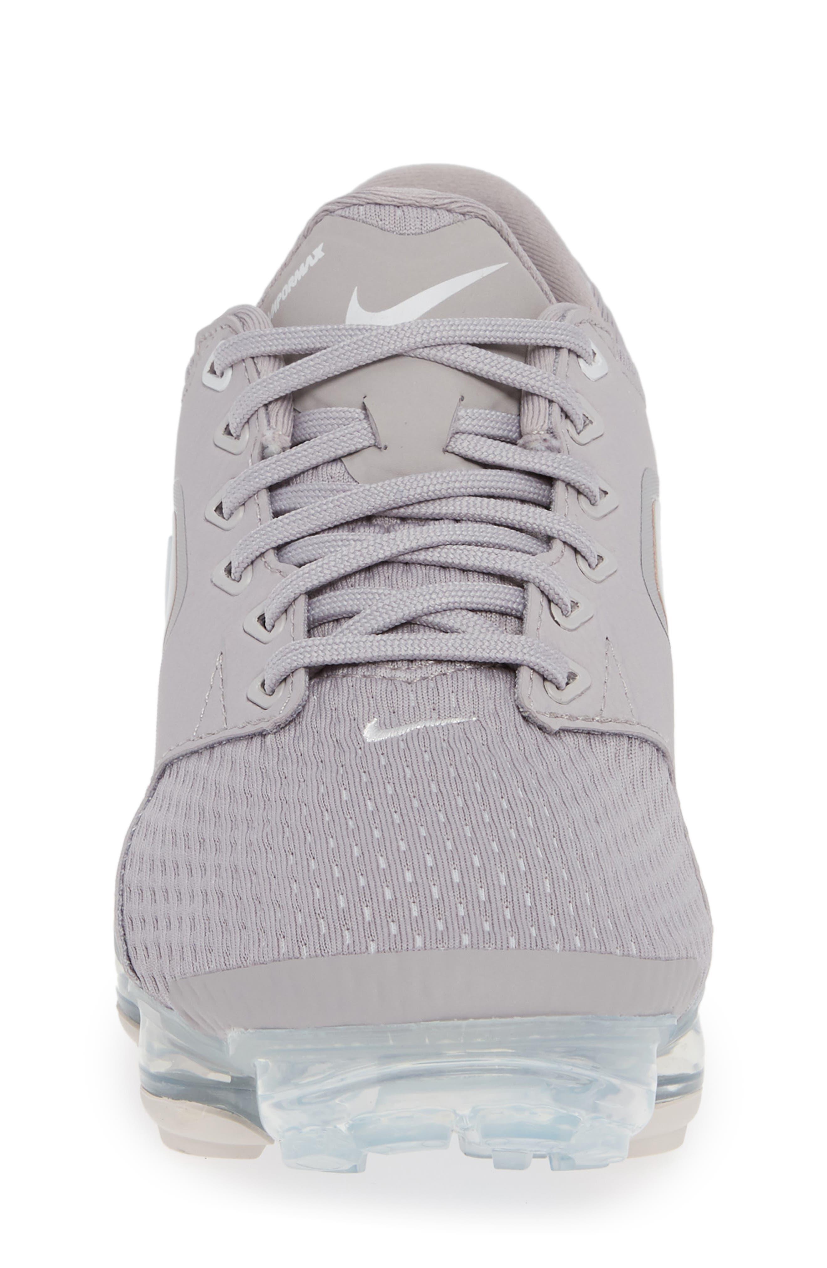 Air VaporMax GS Running Shoe,                             Alternate thumbnail 4, color,                             ATMOSPHERE GREY/ WHITE