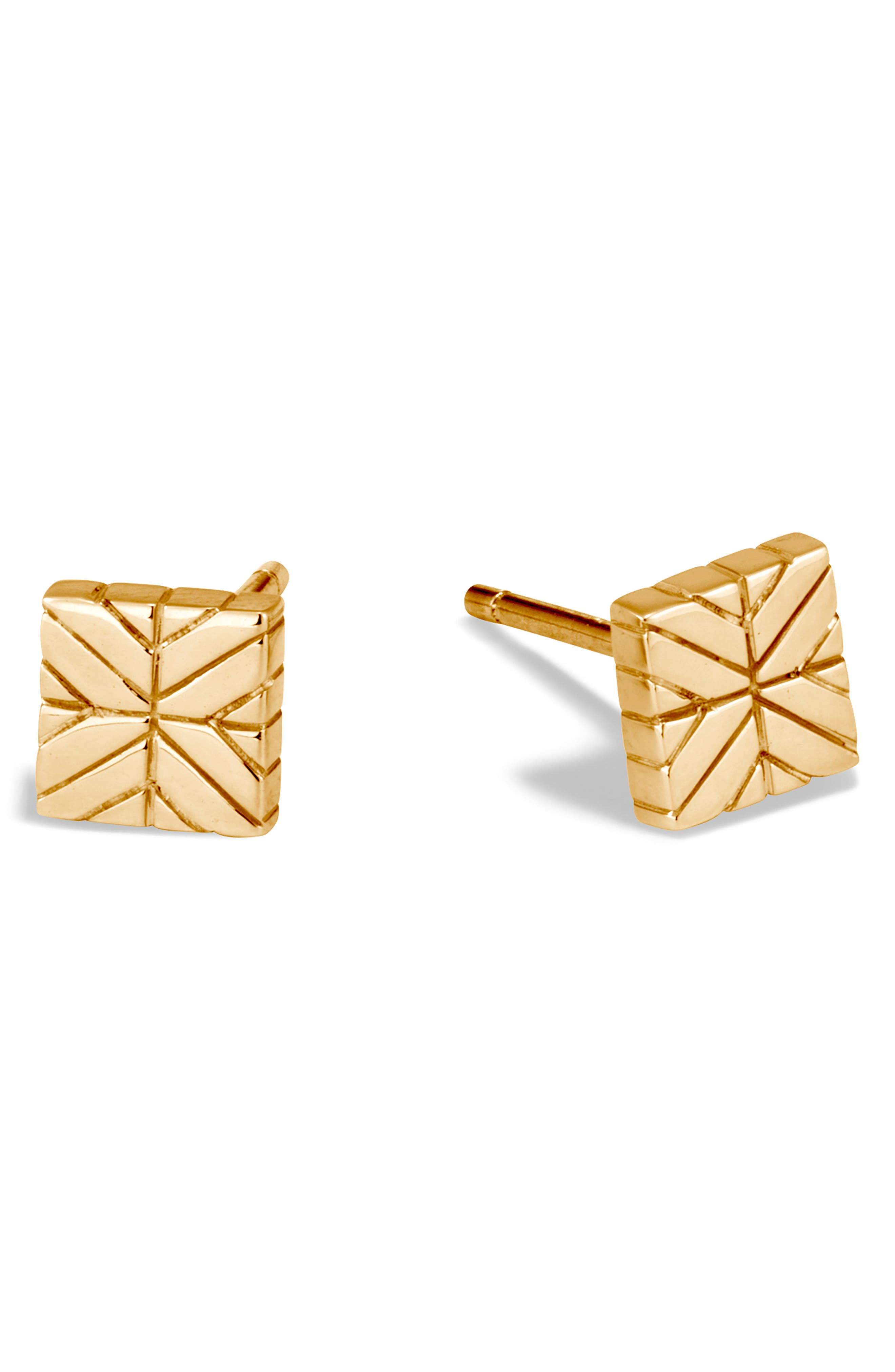 Modern Chain Gold Stud Earrings,                         Main,                         color, GOLD