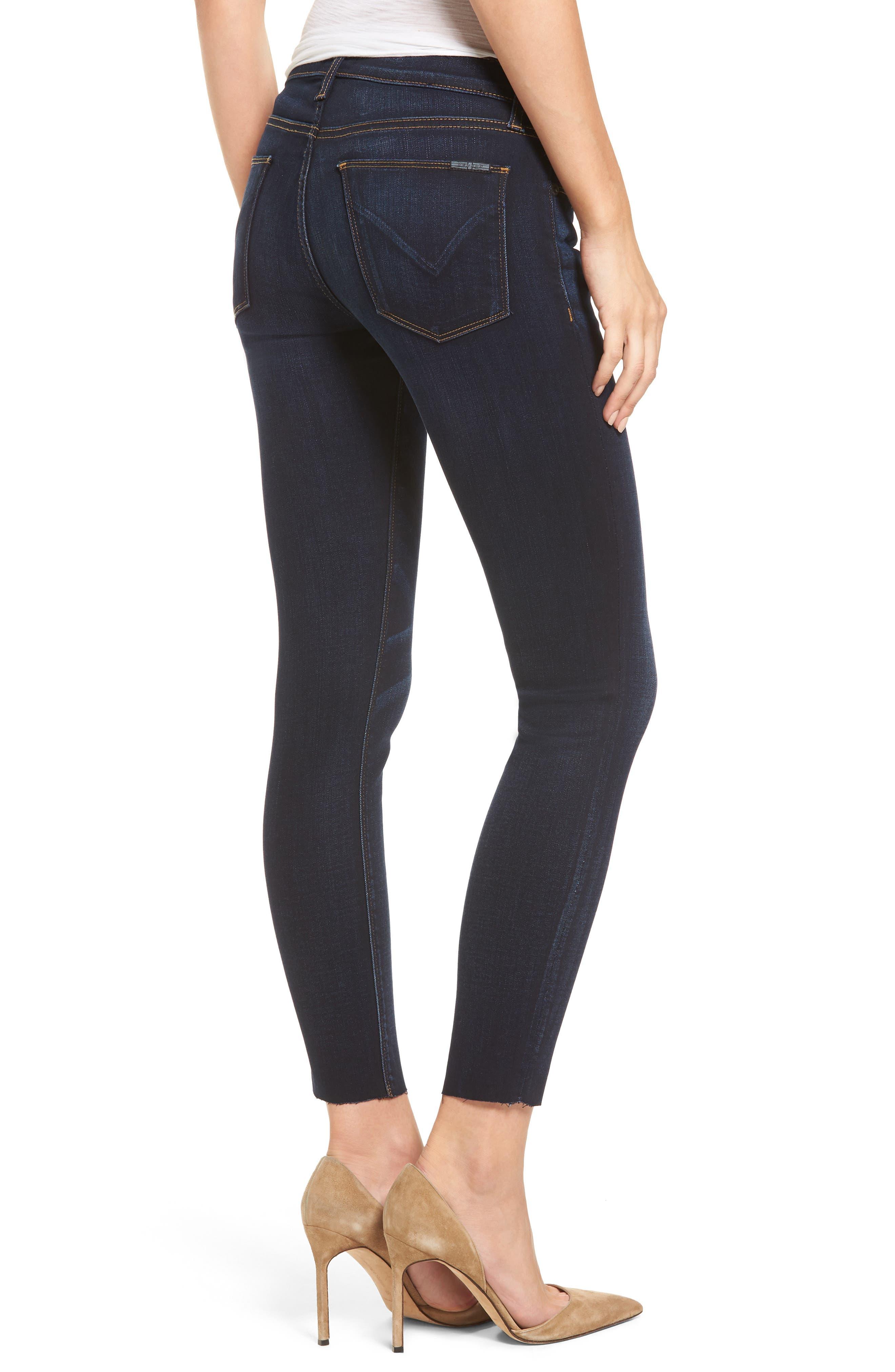 'Krista' Raw Hem Ankle Super Skinny Jeans,                             Alternate thumbnail 2, color,                             402
