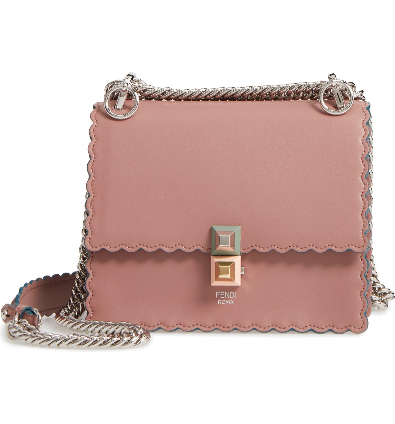 ff8ac4f11a95 Fendi Small Kan I Scallop Leather Shoulder Bag