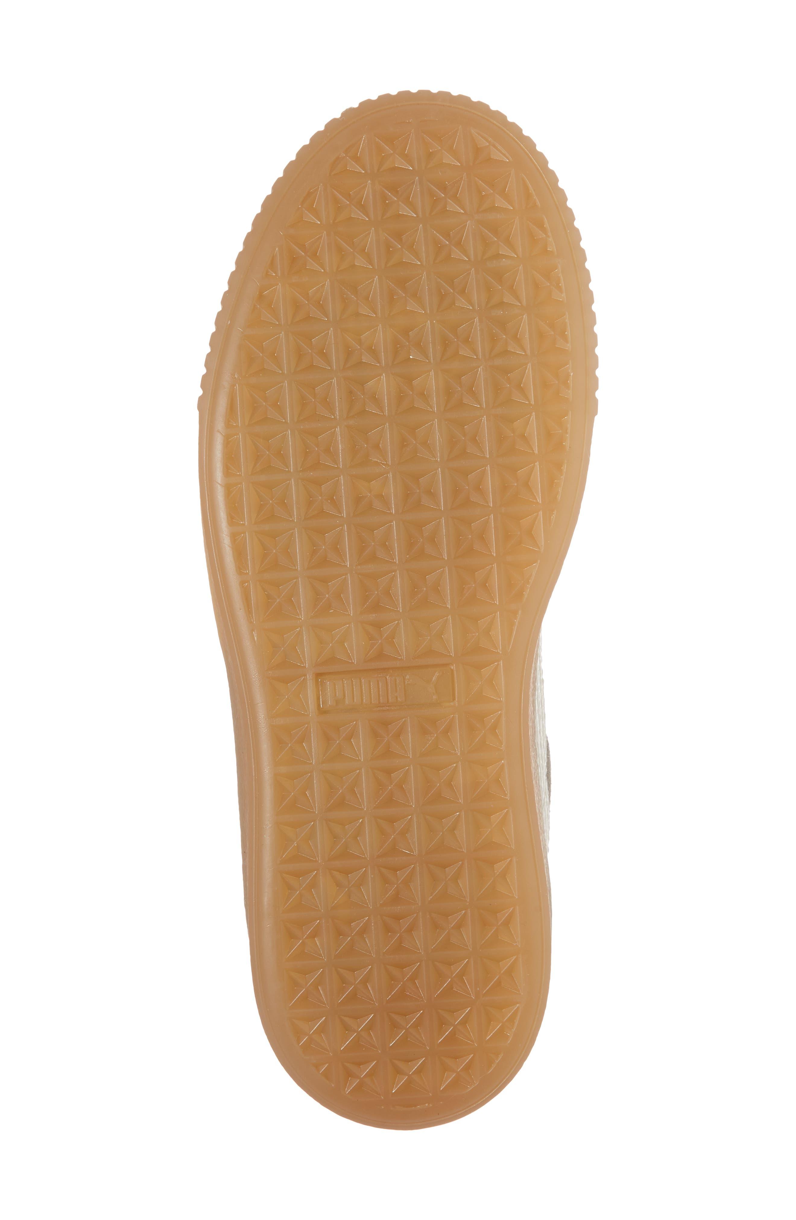 Suede Platform Jr Sneaker,                             Alternate thumbnail 6, color,                             060
