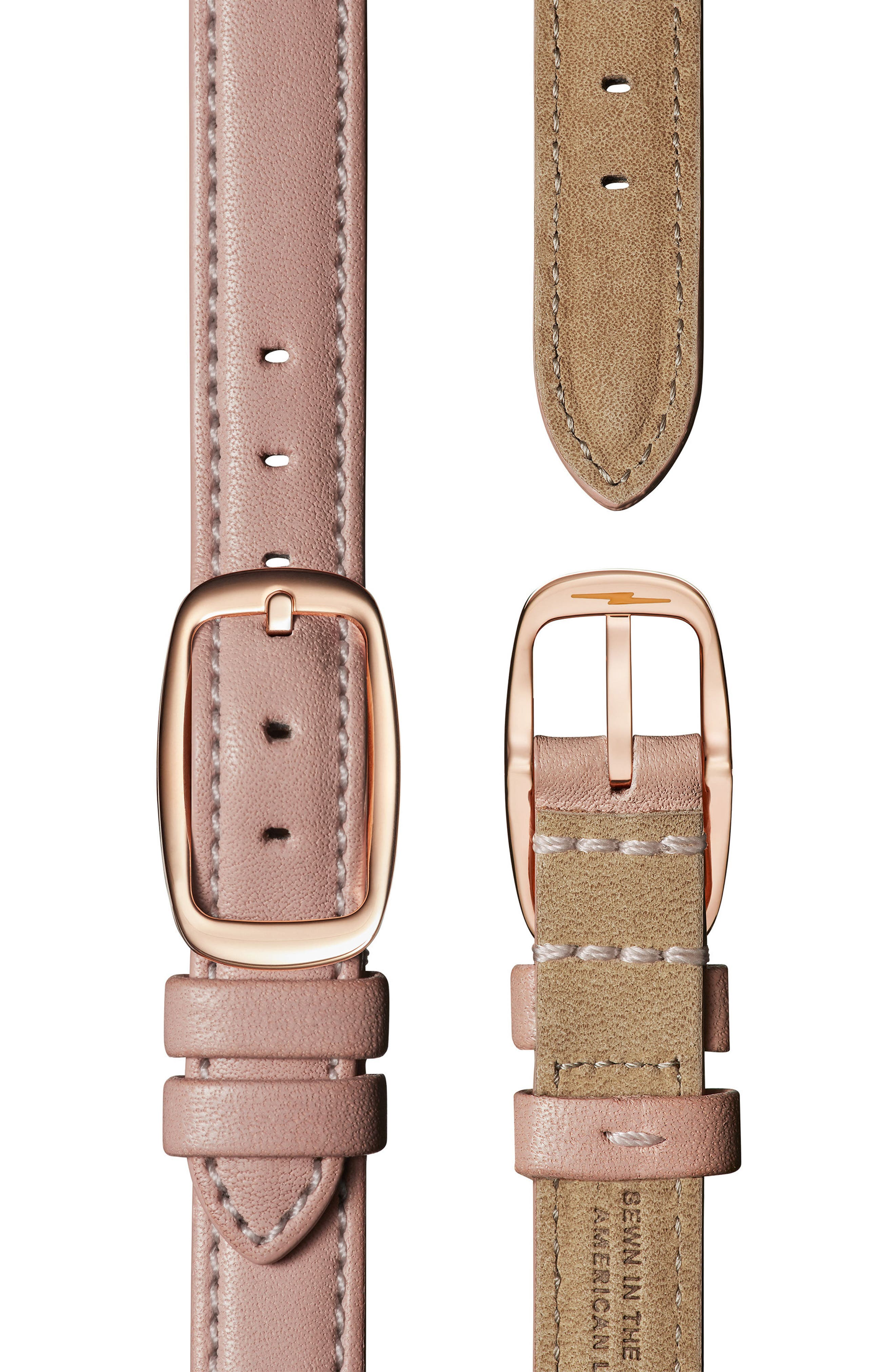 Canfield Leather Strap Watch, 32mm,                             Alternate thumbnail 4, color,                             BLUSH/ SILVER/ ROSE GOLD