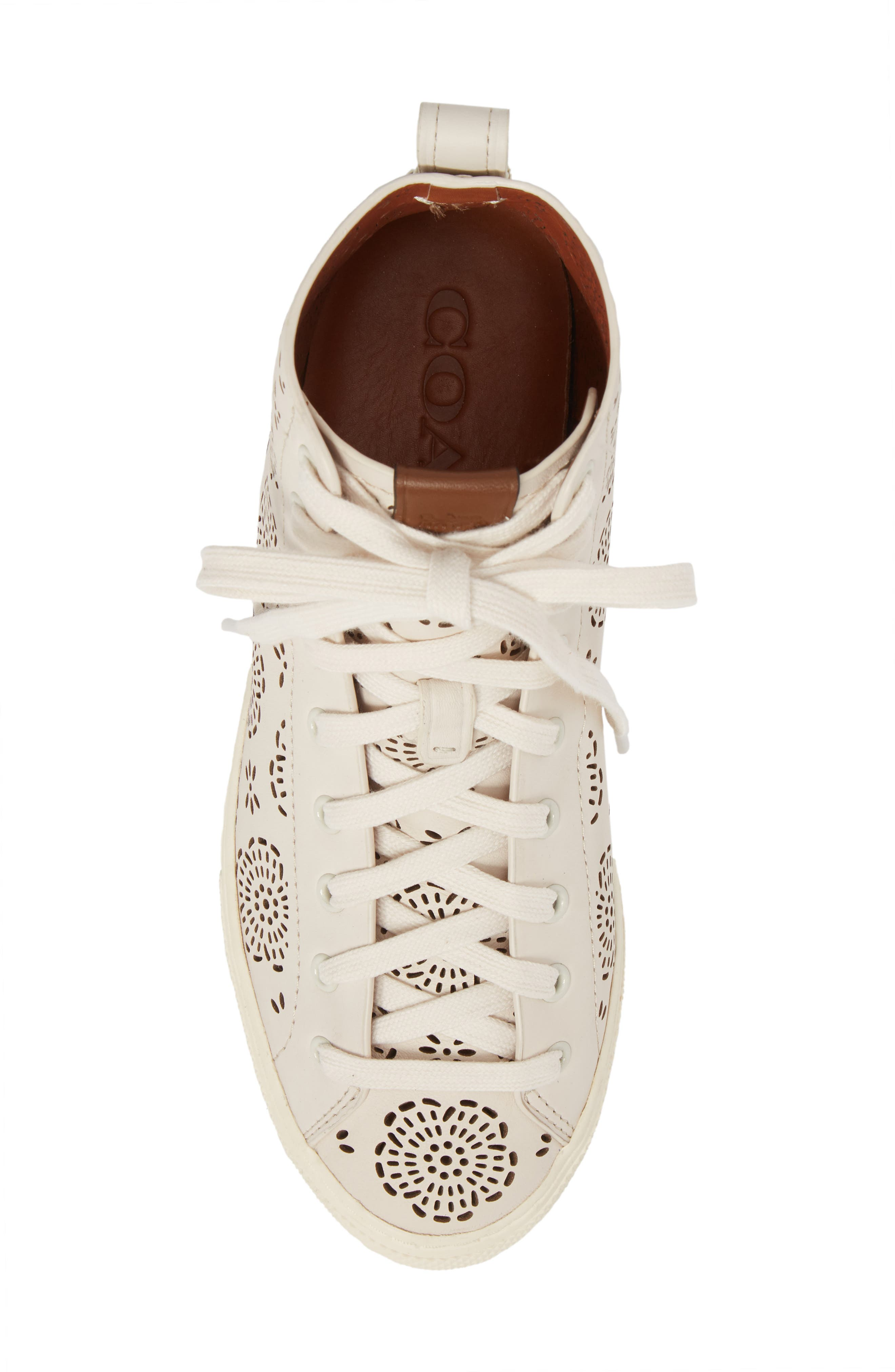 Tea Rose Cutout High Top Sneaker,                             Alternate thumbnail 5, color,                             115