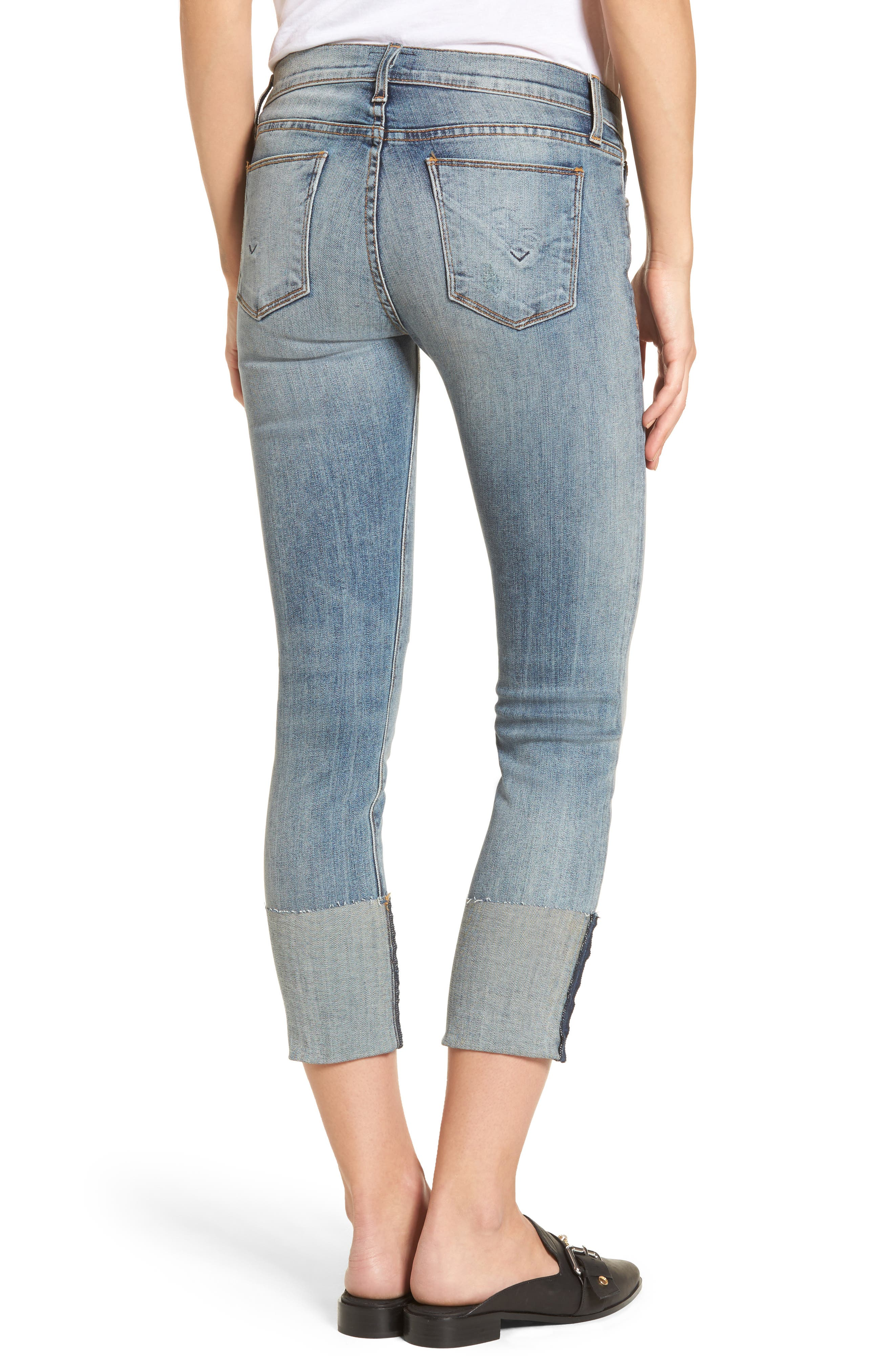 Tally Cuffed Crop Skinny Jeans,                             Alternate thumbnail 6, color,