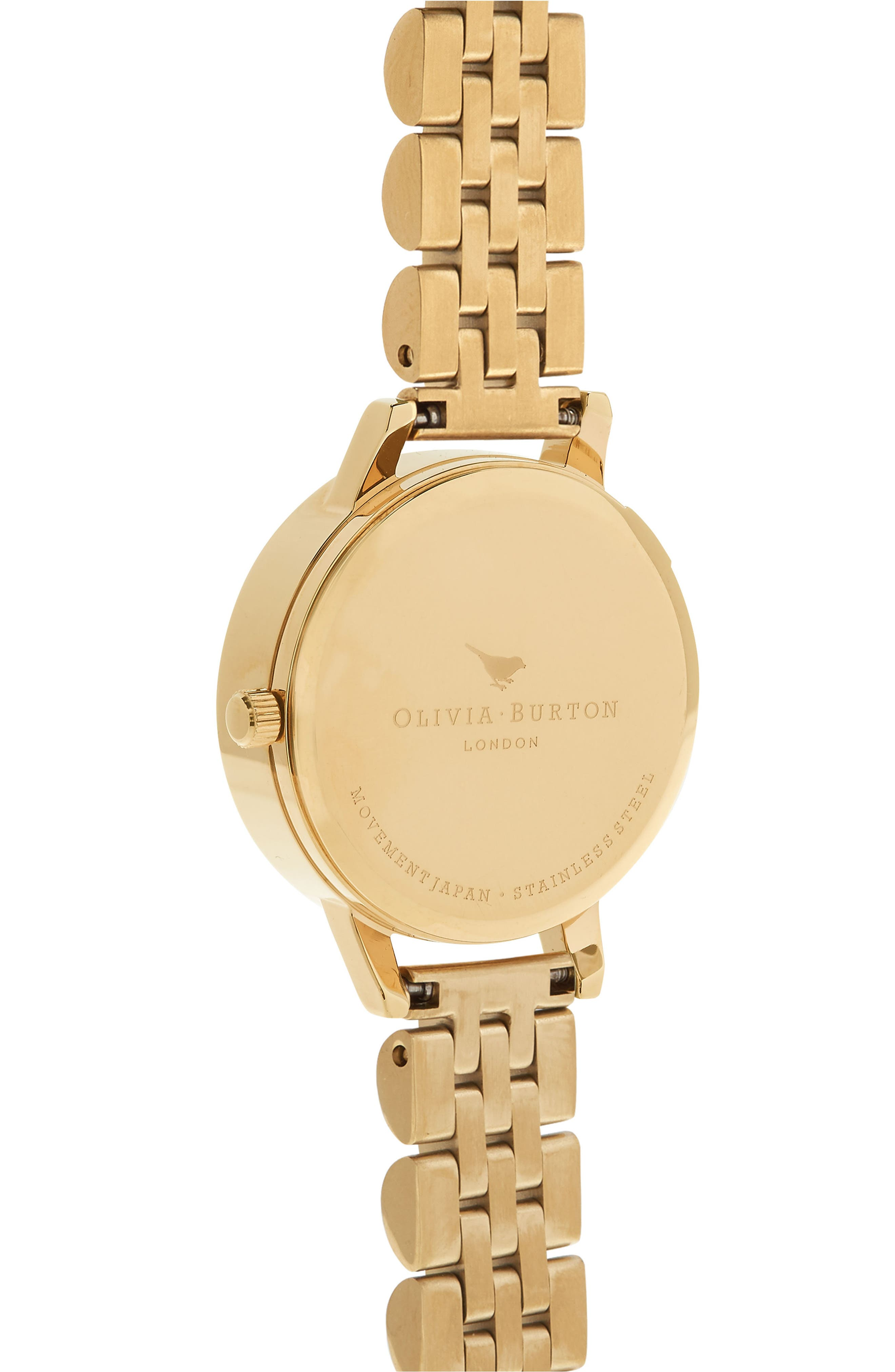 3D Daisy Bracelet Watch, 30mm,                             Alternate thumbnail 2, color,                             GOLD/ IVORY/ GOLD