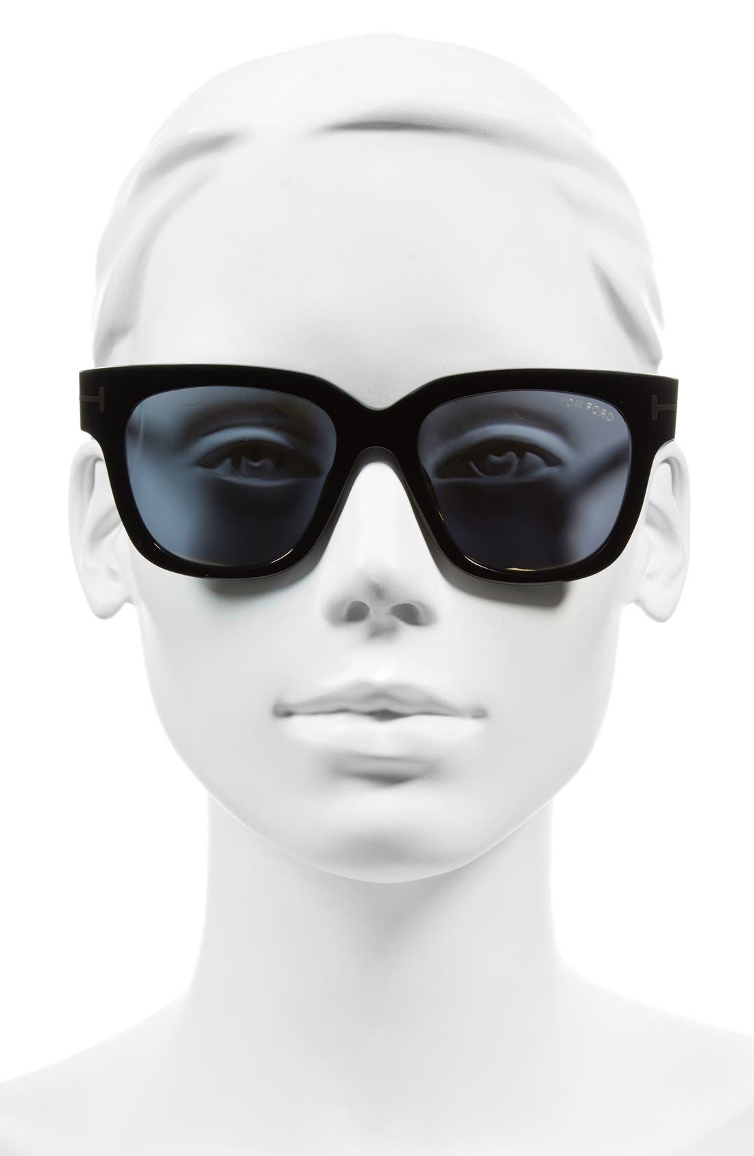 TOM FORD,                             'Tracy' 53mm Retro Sunglasses,                             Alternate thumbnail 2, color,                             001