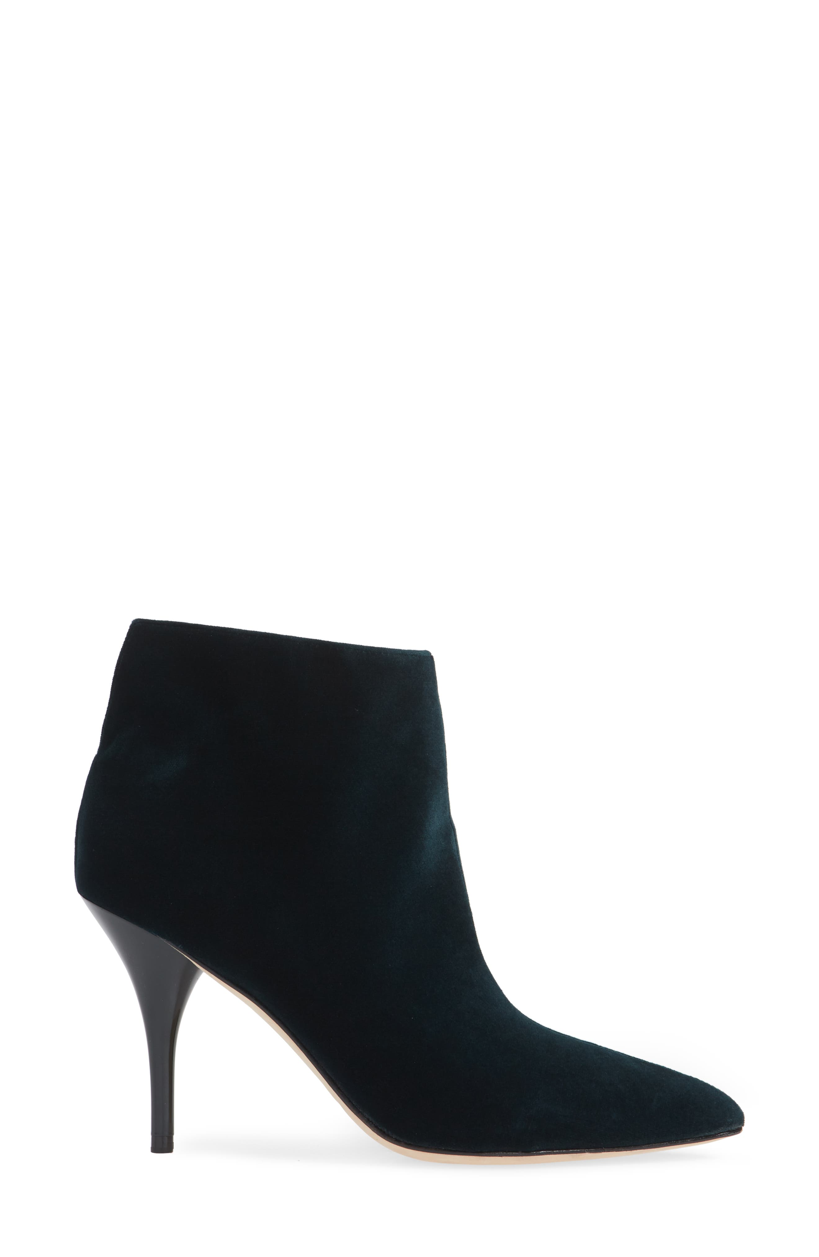 MARC FISHER LTD,                             Fenet Pointy Toe Bootie,                             Alternate thumbnail 3, color,                             SPRUCE FABRIC
