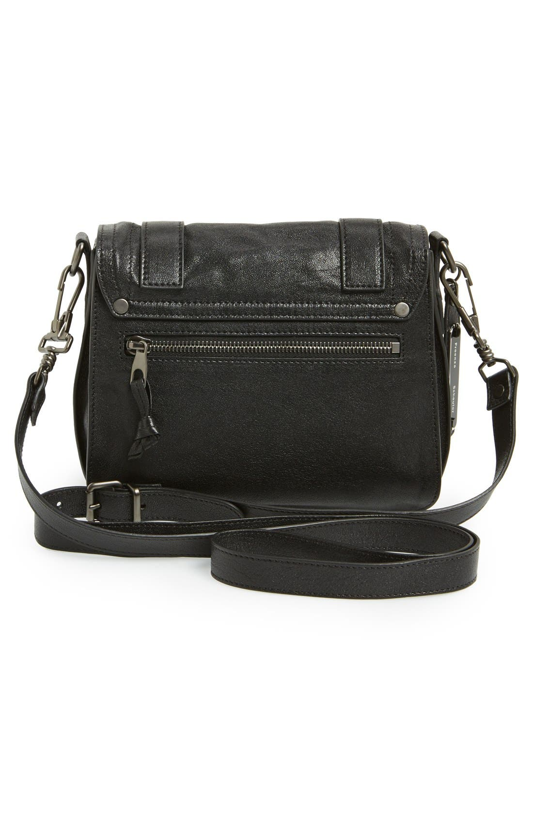 'PS1' Fringed Crossbody Pouch,                             Alternate thumbnail 3, color,                             001