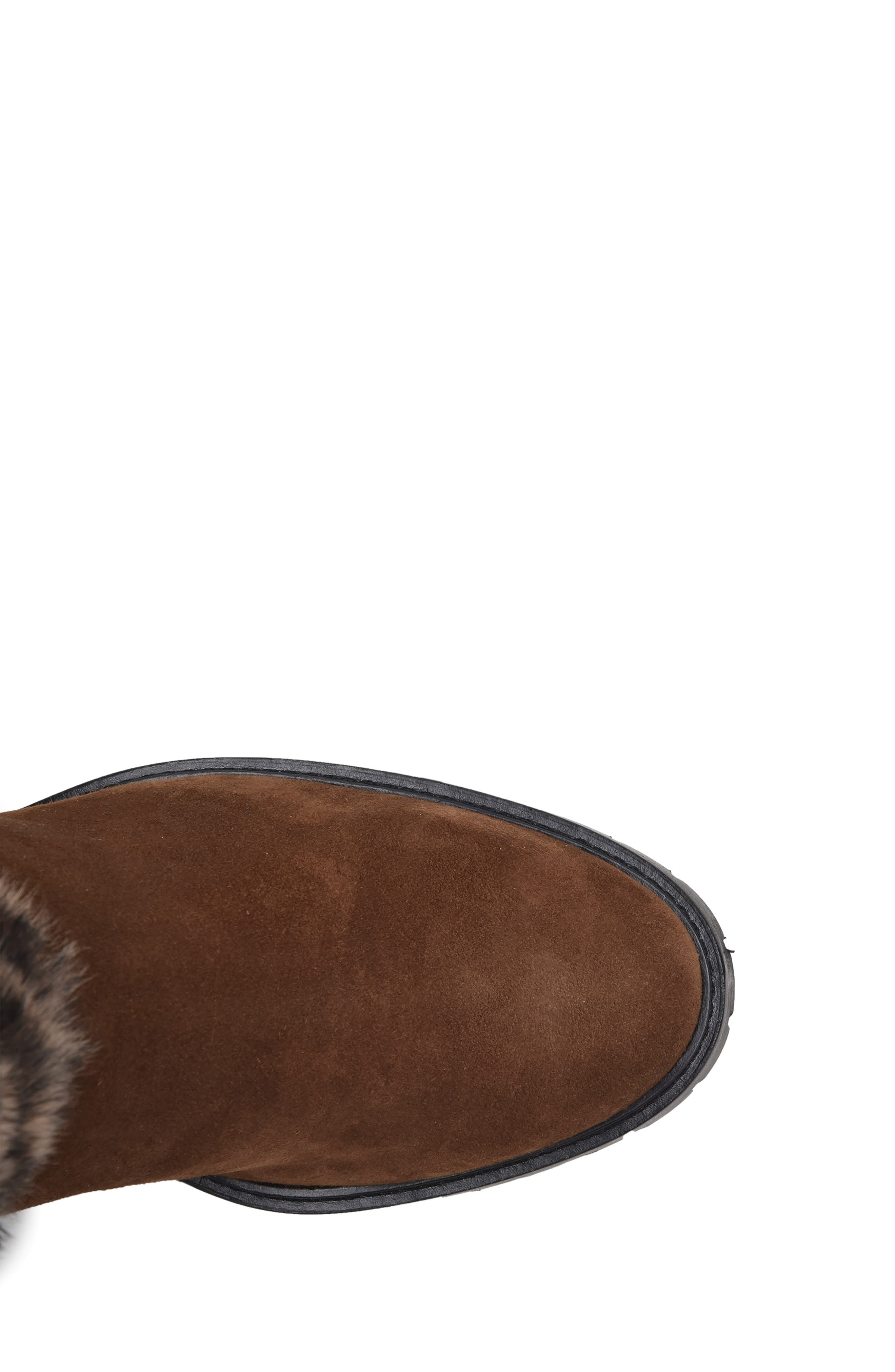 Weatherproof Genuine Shearling Boot,                             Alternate thumbnail 4, color,                             LEOPARD LEATHER