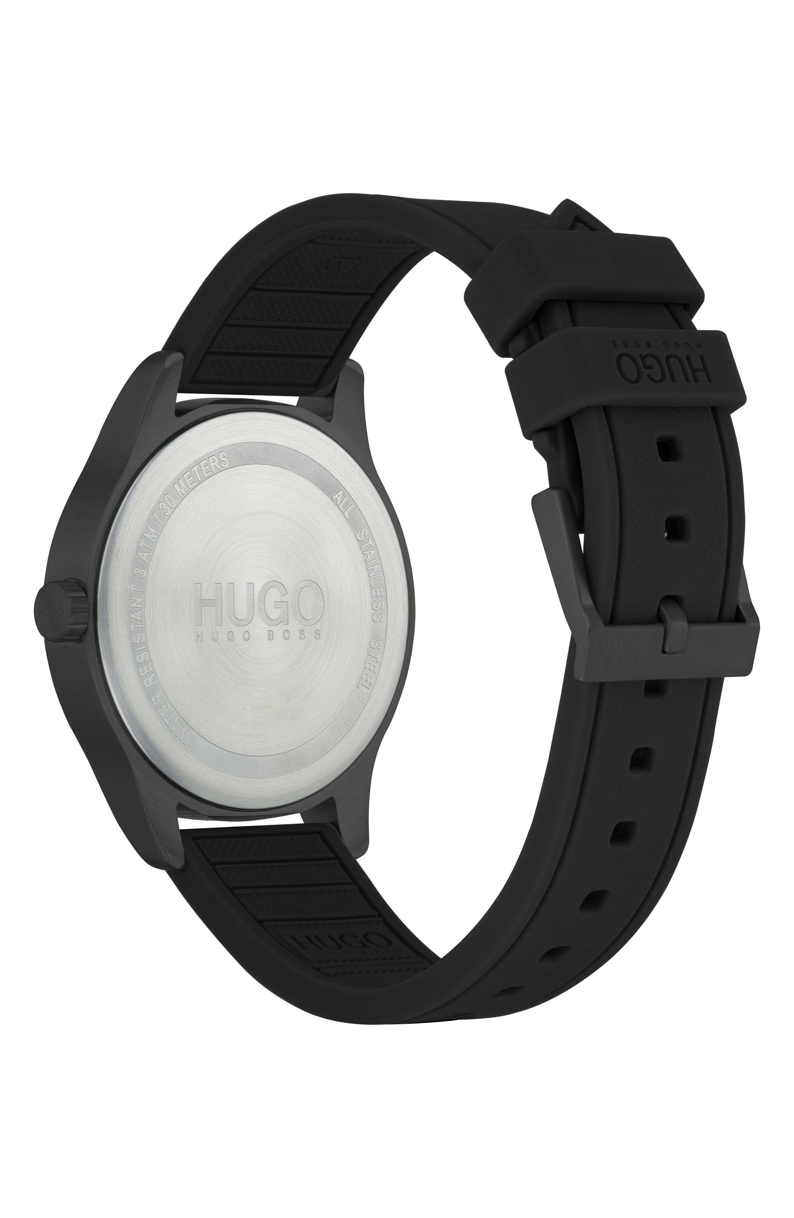 Silicone Strap Watch, 42mm,                             Alternate thumbnail 2, color,                             KHAKI