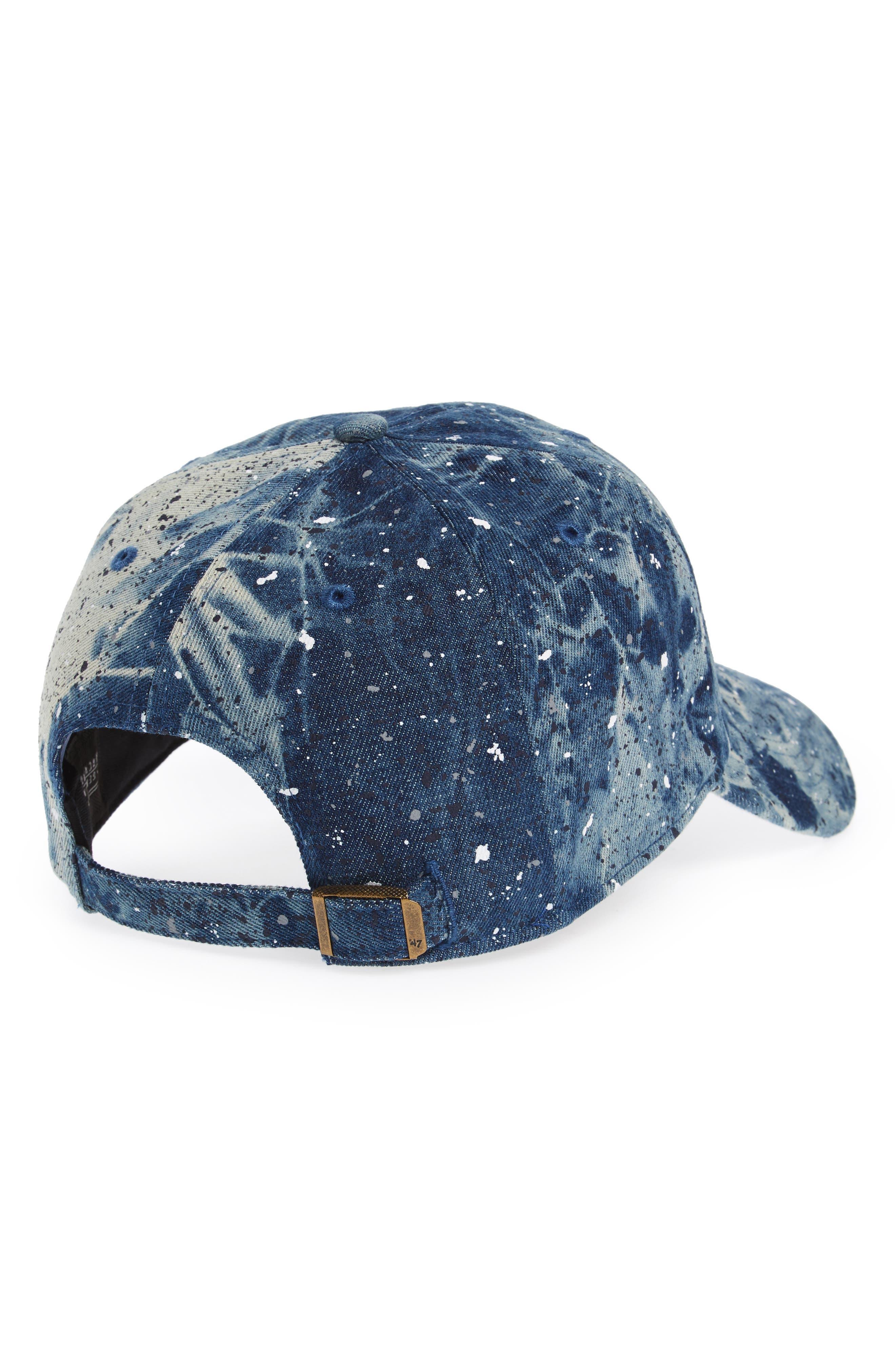 New York Yankees - Blue Splatter Baseball Cap,                             Alternate thumbnail 2, color,                             400