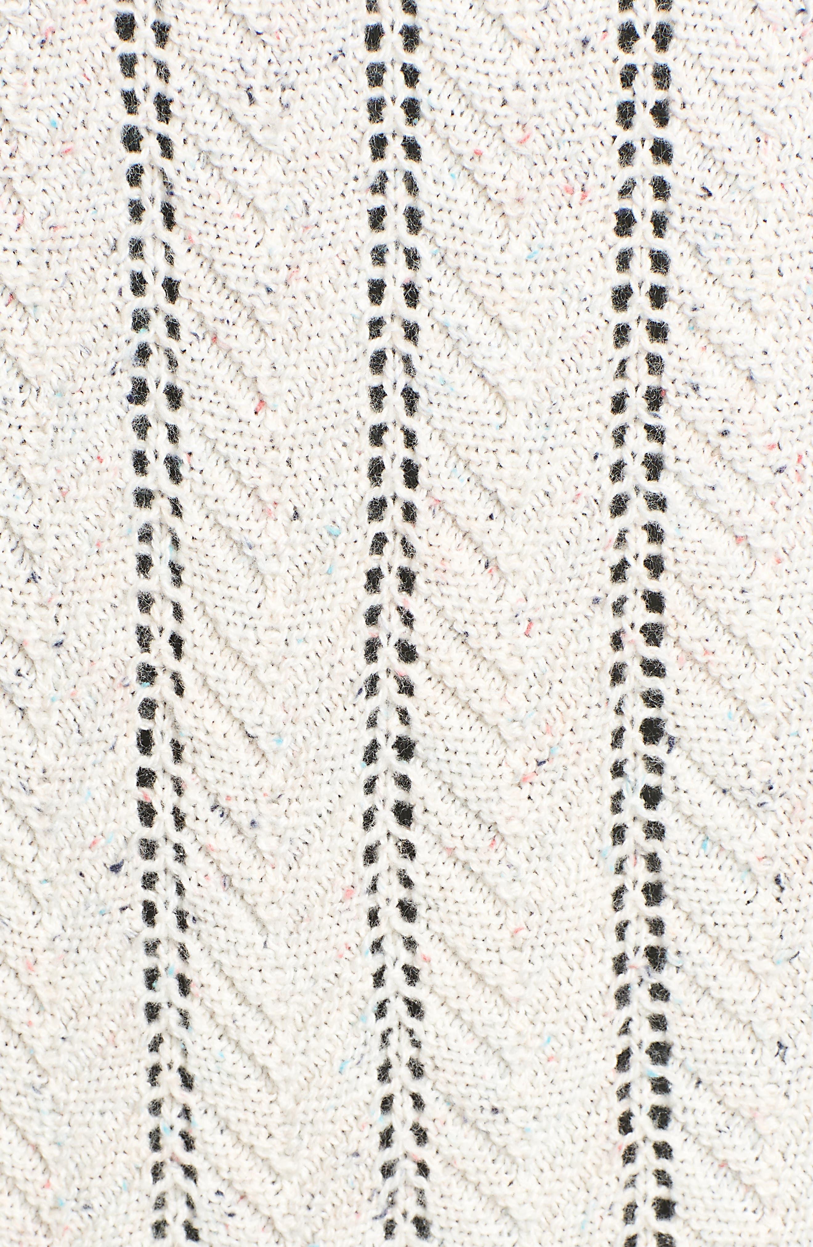 Long Tweed Herringbone Stitch Cardigan,                             Alternate thumbnail 5, color,                             260