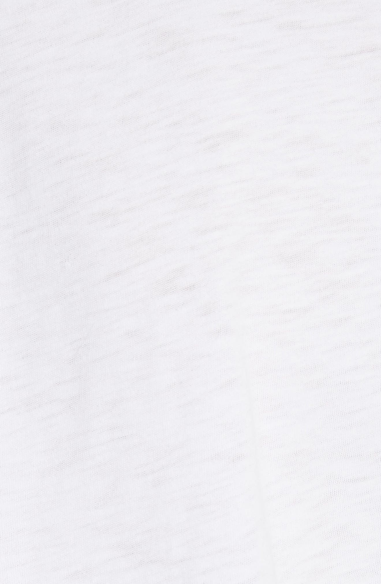 U-Neck Tee,                             Alternate thumbnail 5, color,                             WHITE