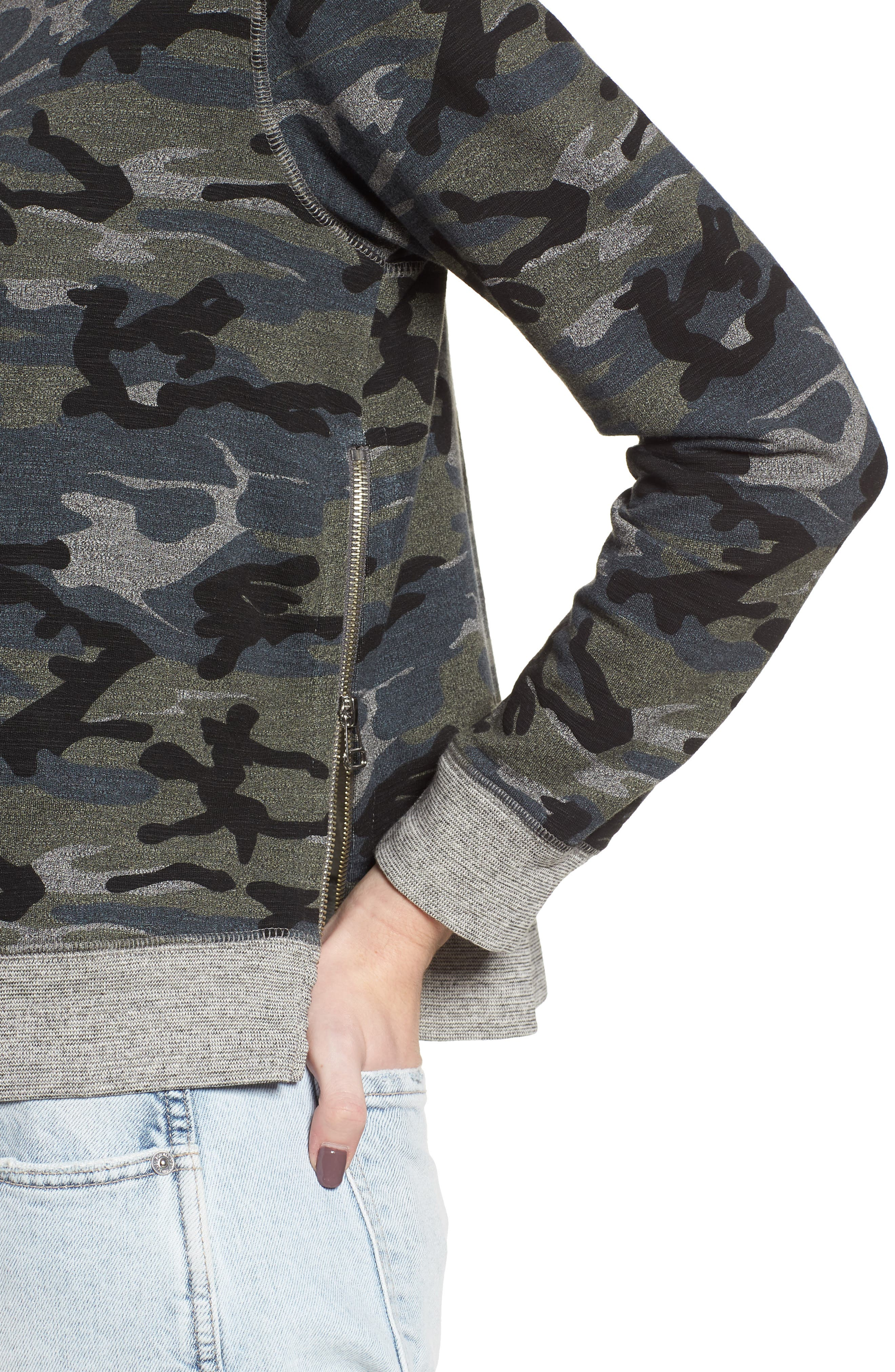 Camo Pullover,                             Alternate thumbnail 4, color,                             020