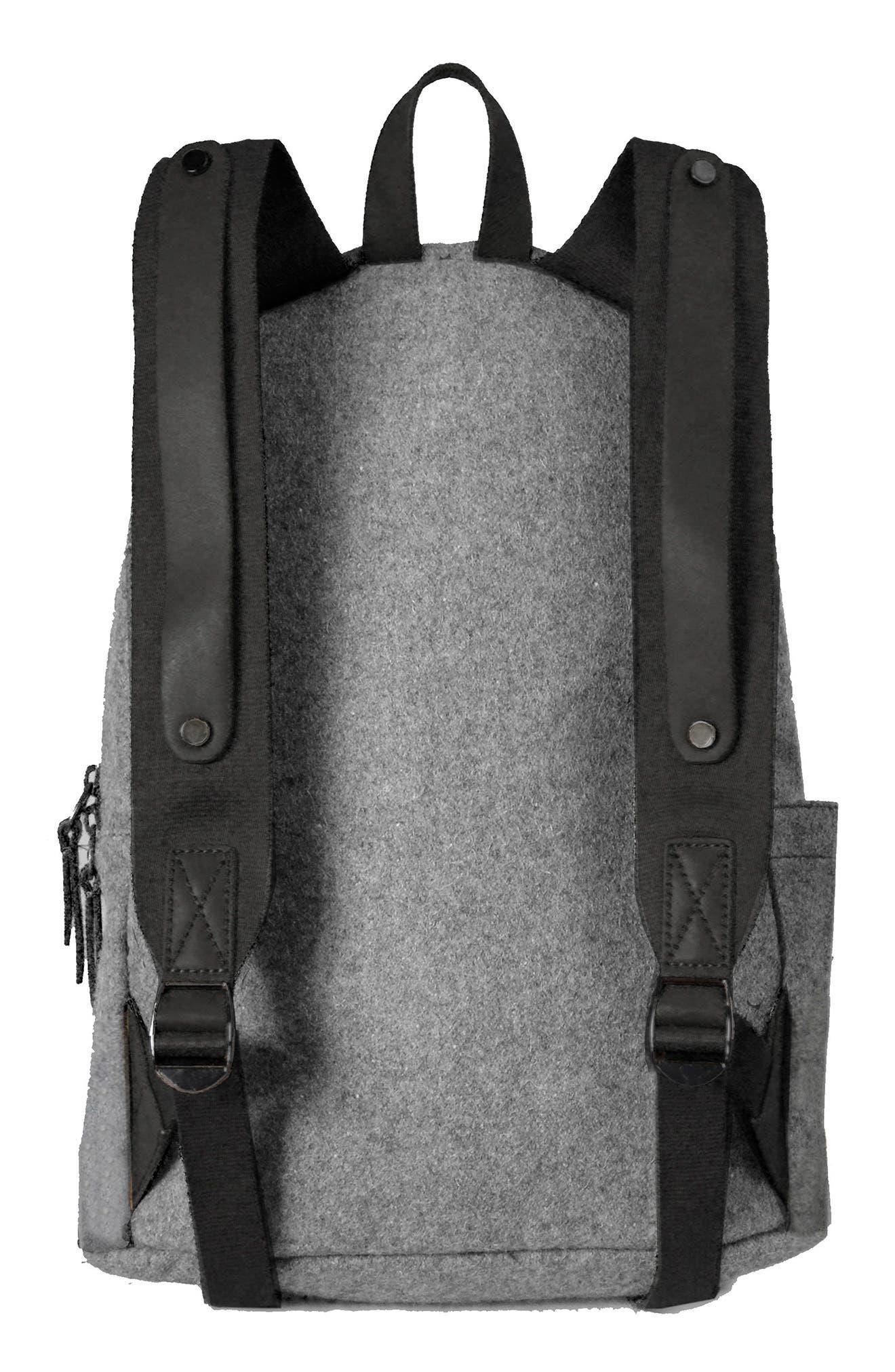 Indie Boiled Wool Backpack,                             Alternate thumbnail 6, color,
