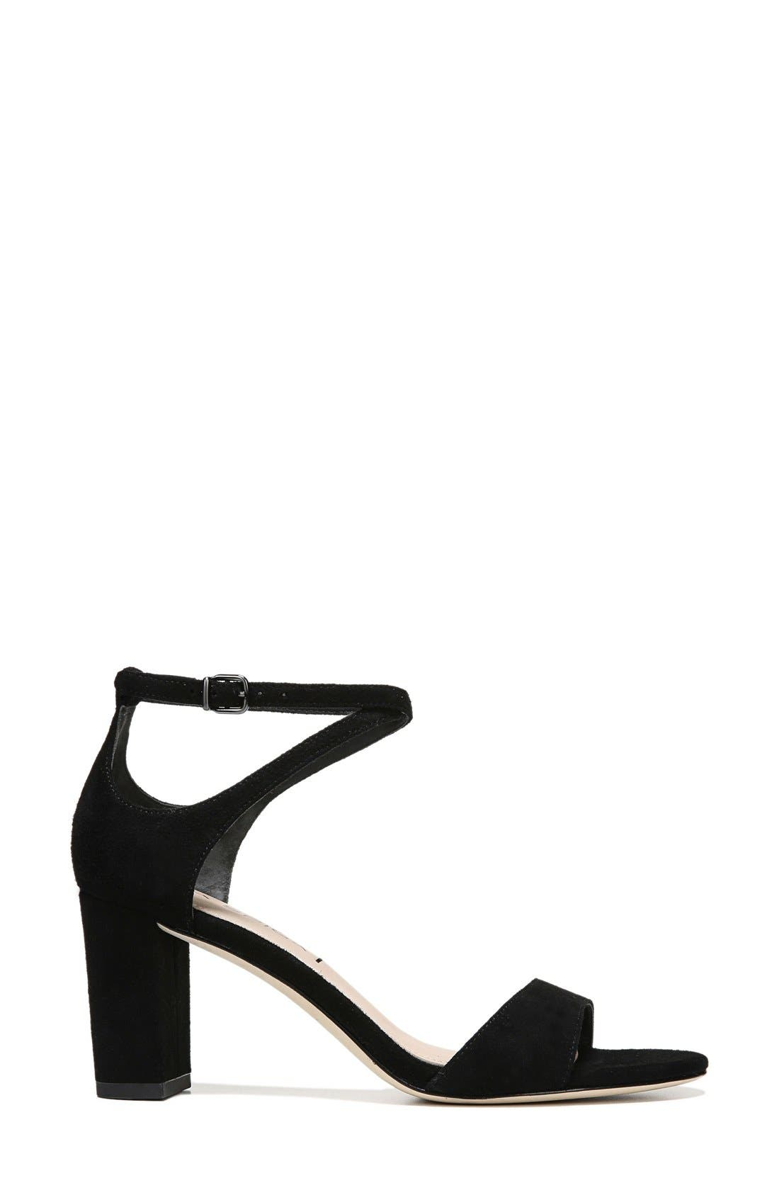Wendi Ankle Strap Sandal,                             Alternate thumbnail 4, color,                             001