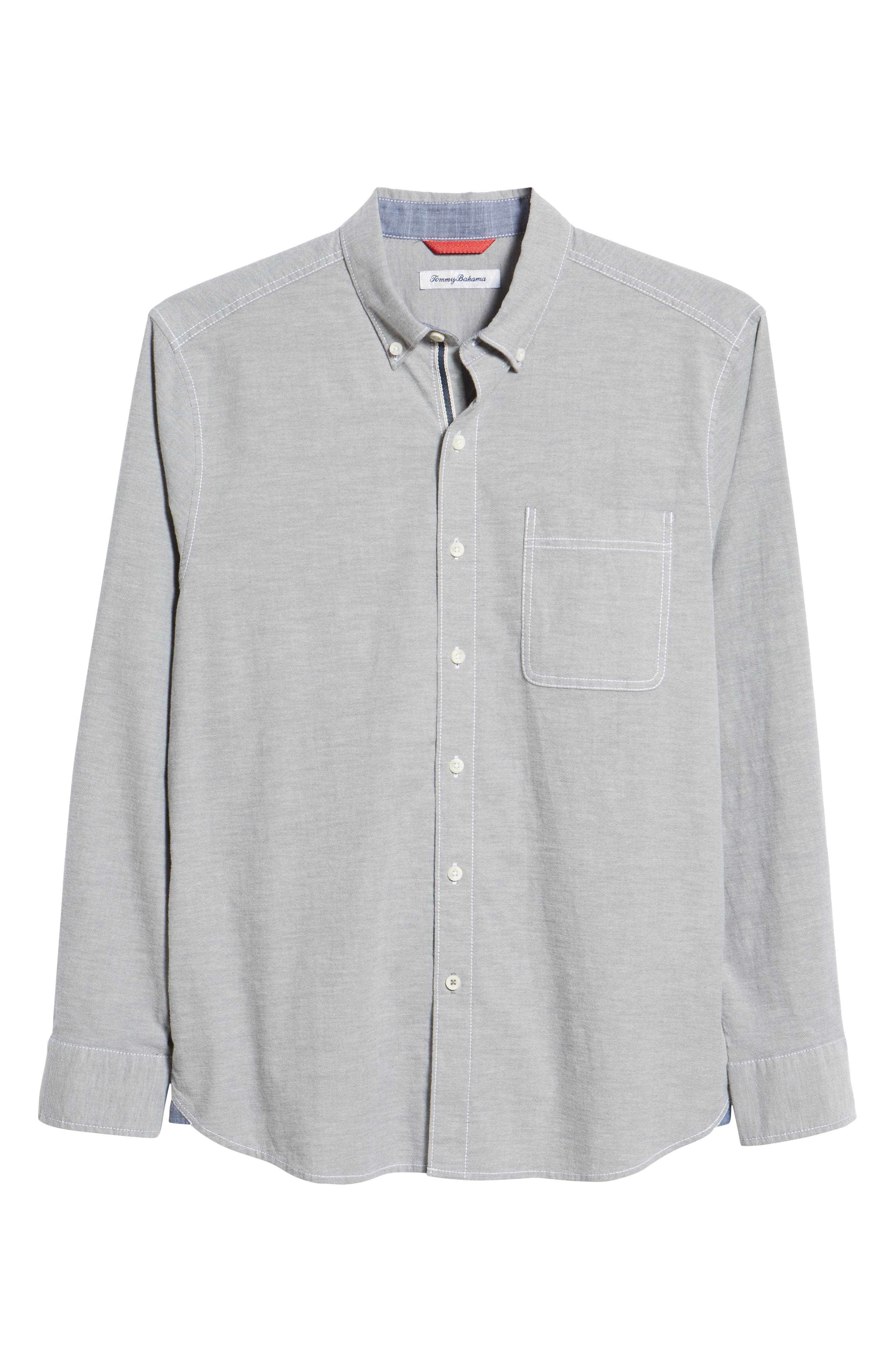 Oxford Isles Sport Shirt,                             Alternate thumbnail 5, color,                             CAVE