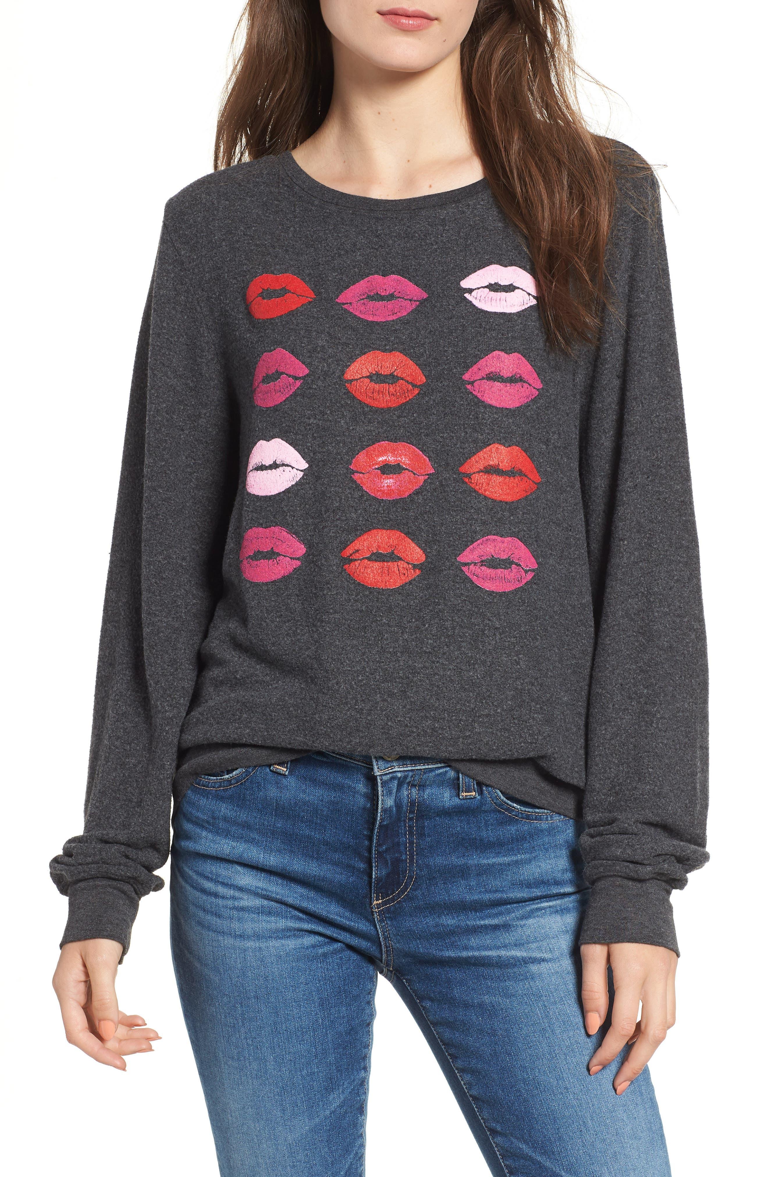 Smooches Baggy Beach Jumper Sweatshirt,                             Main thumbnail 1, color,                             002