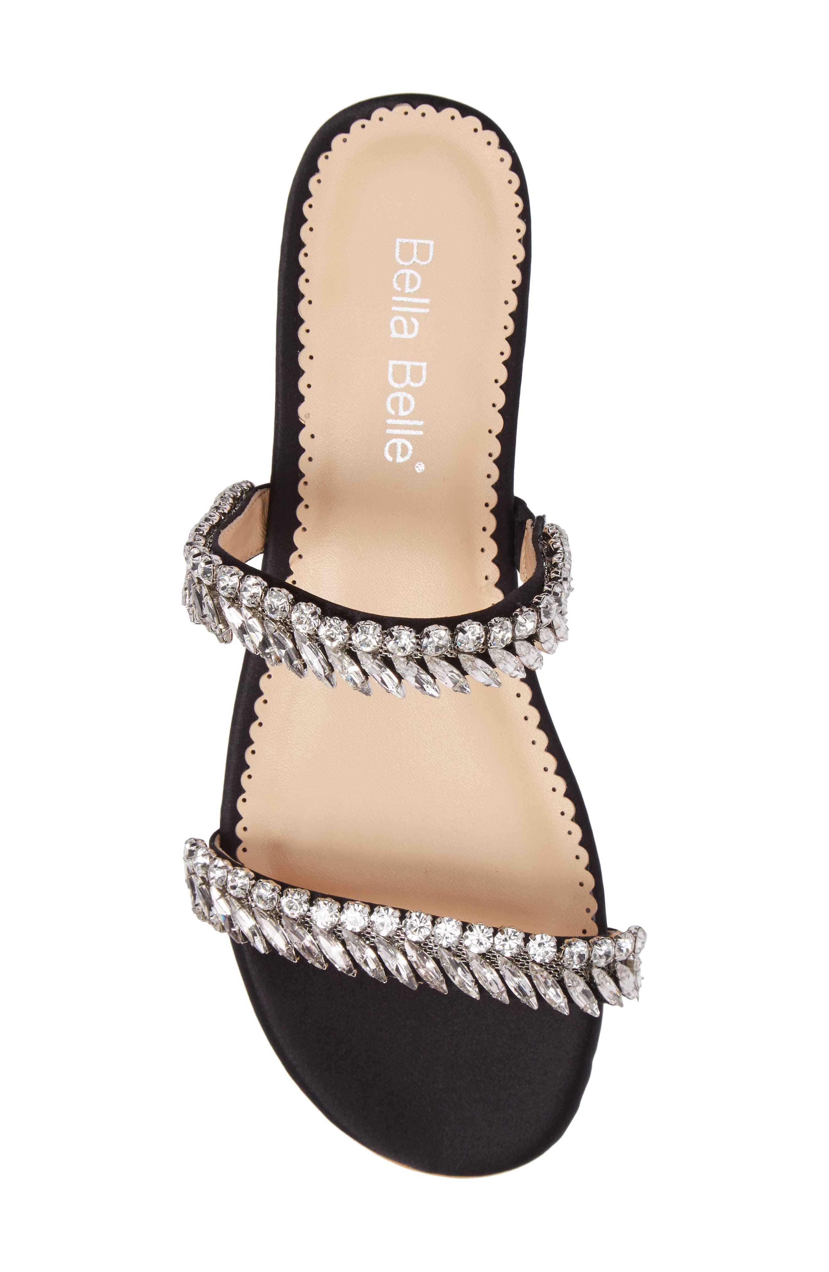 Bree Jeweled Evening Sandal,                             Alternate thumbnail 5, color,                             BLACK