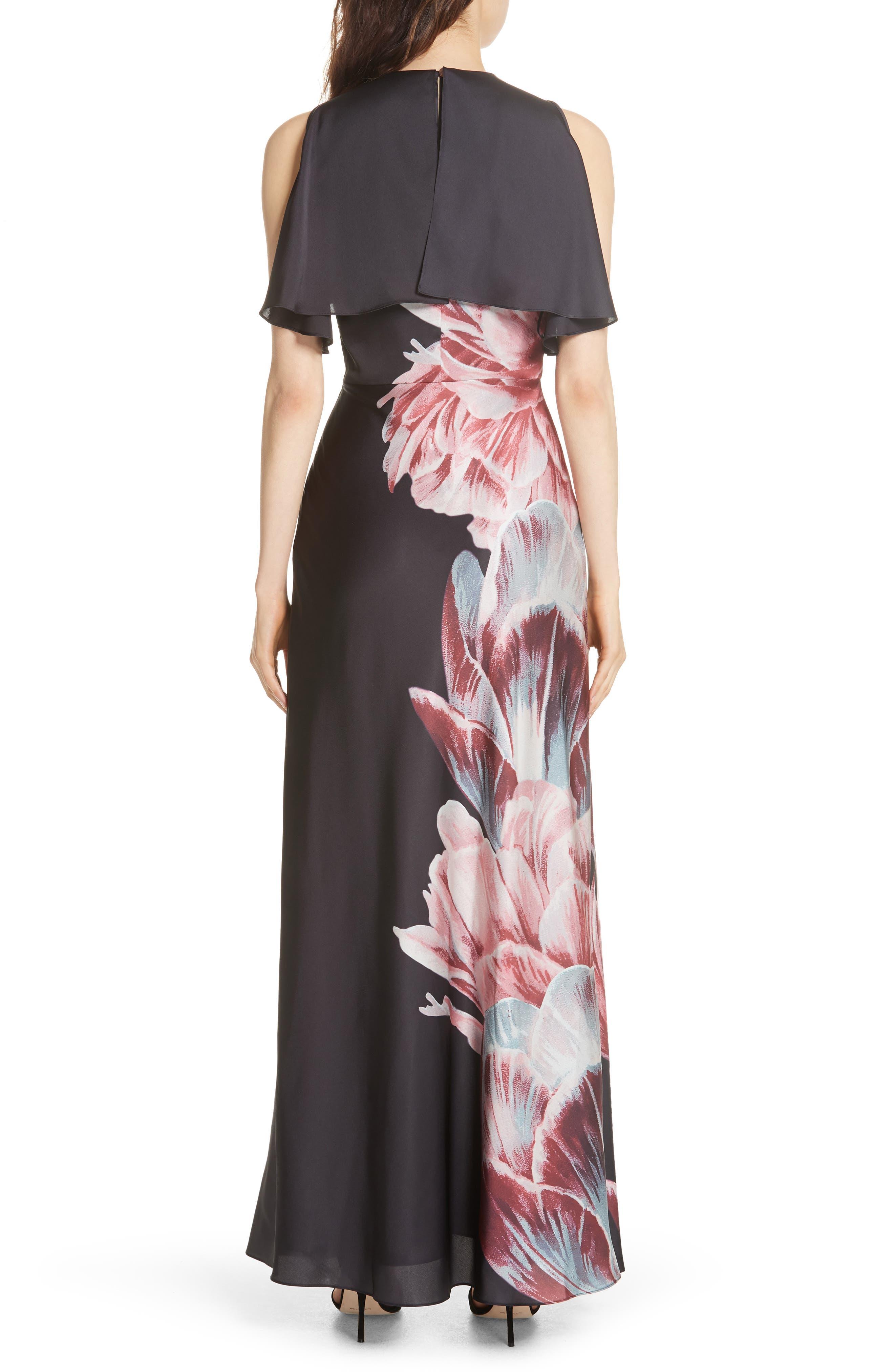 Ulrika Tranquility Ruffle Maxi Dress,                             Alternate thumbnail 2, color,                             BLACK