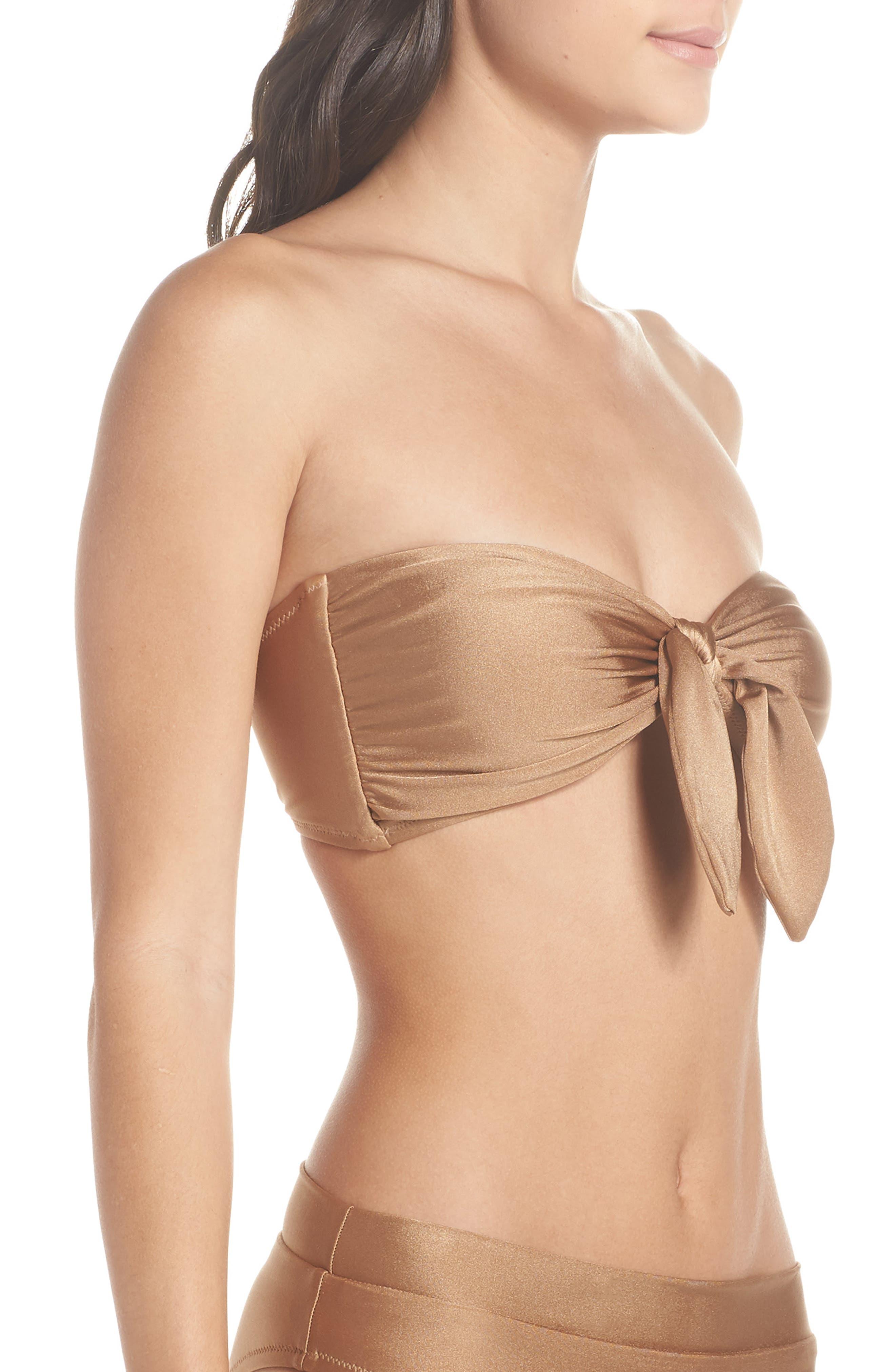 Fairfax Bandeau Bikini Top,                             Alternate thumbnail 3, color,                             710