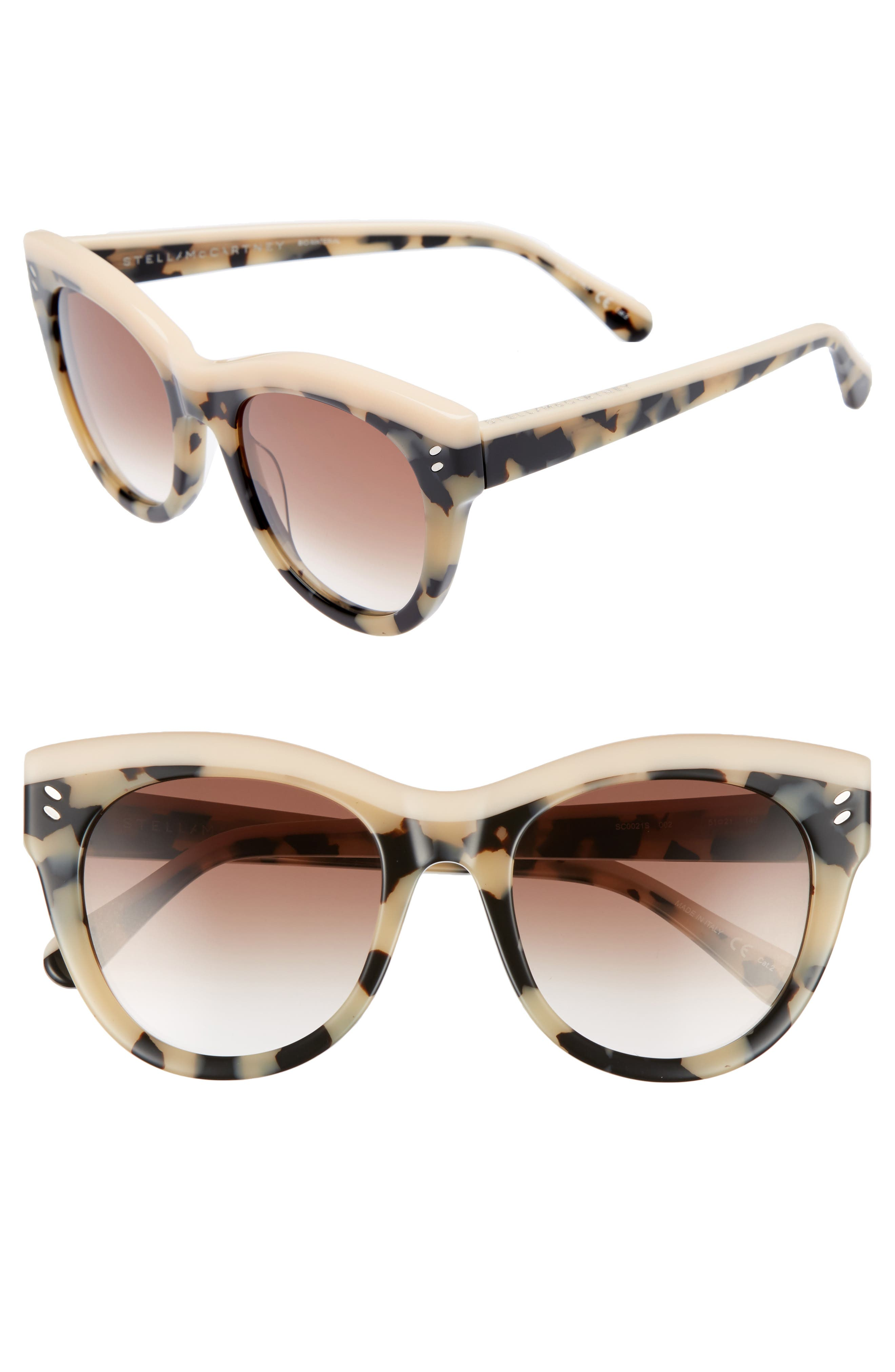 51mm Cat Eye Sunglasses,                             Main thumbnail 2, color,