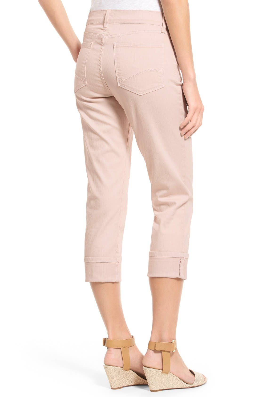 'Dayla' Colored Wide Cuff Capri Jeans,                             Alternate thumbnail 56, color,