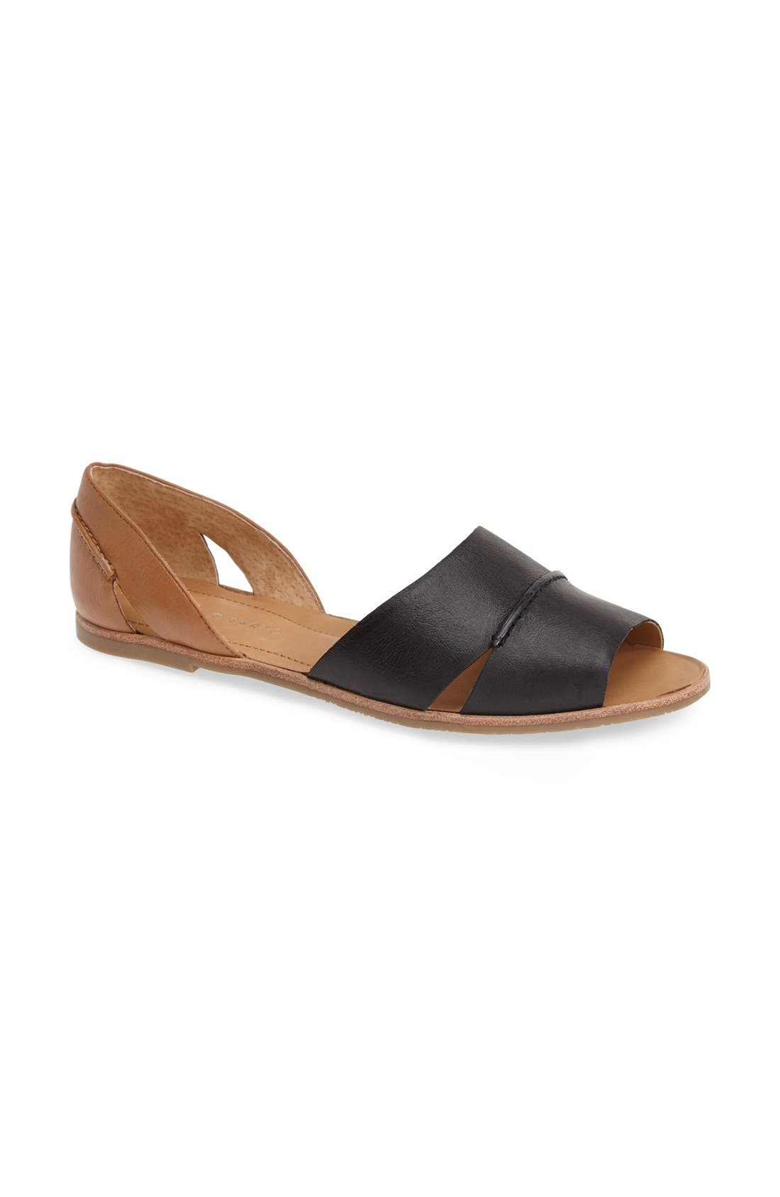 'Vivace' Leather d'Orsay Flat, Main, color, 002