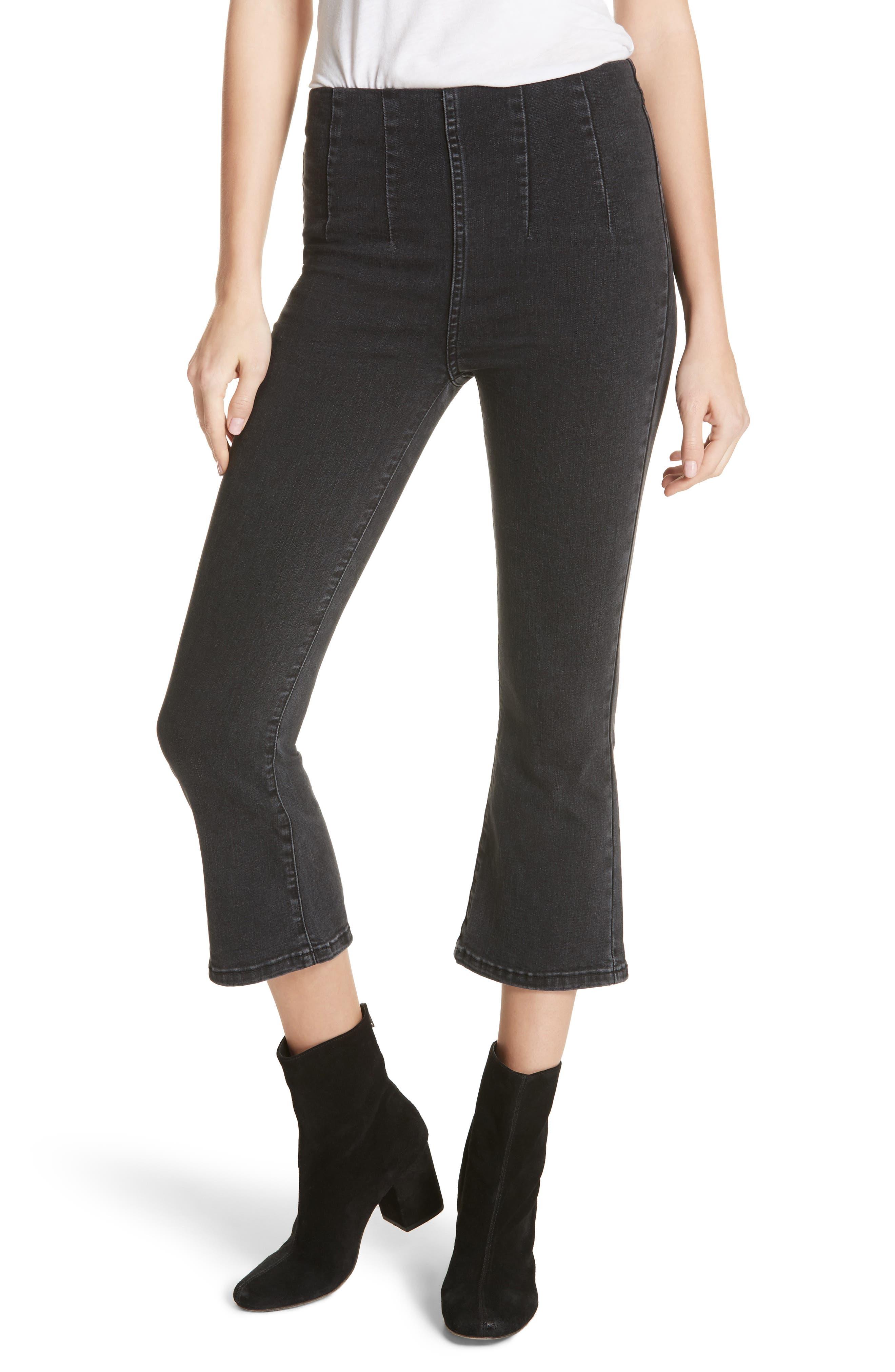 Ultra High Waist Crop Bootcut Jeans,                         Main,                         color, 001
