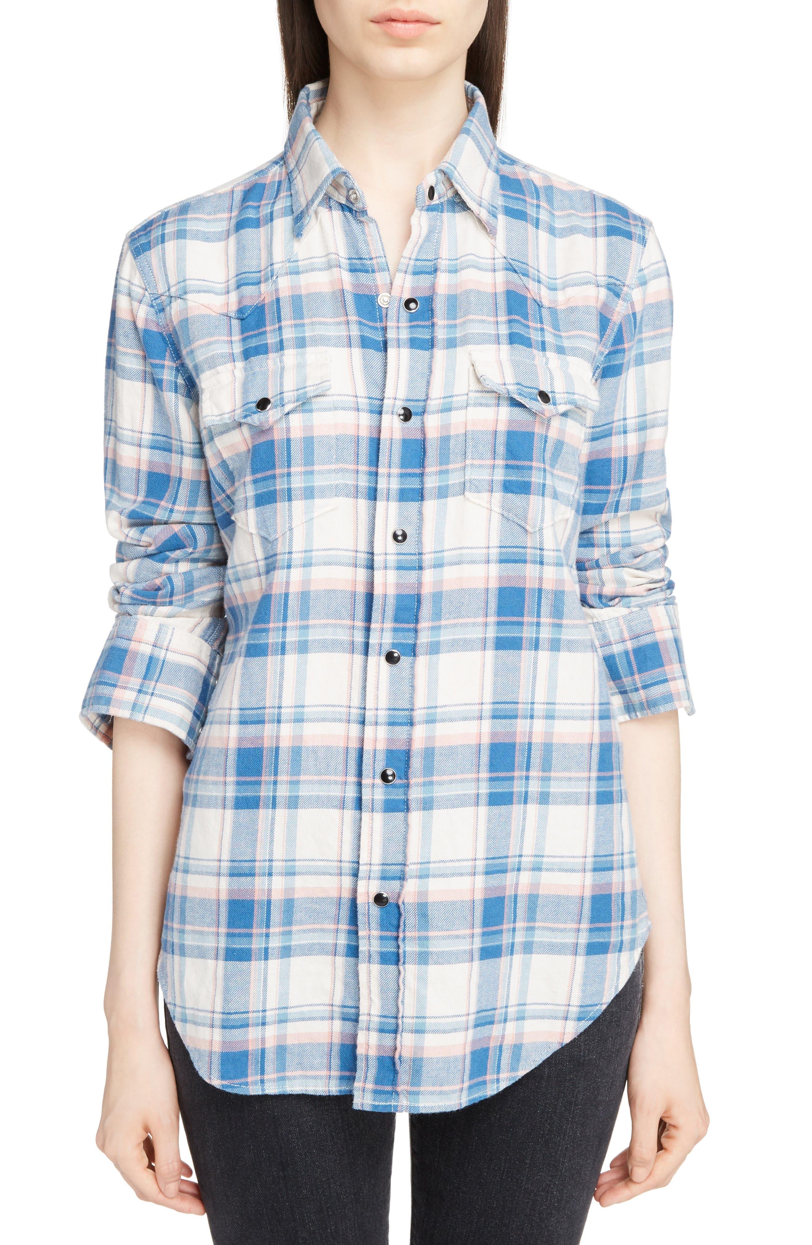 Plaid Western Shirt,                             Main thumbnail 1, color,                             482