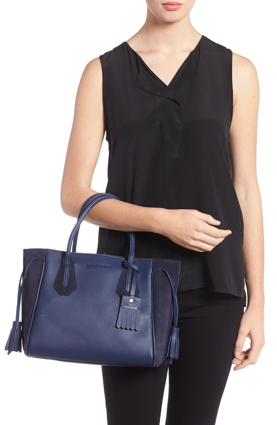 'Small Penelope Fantasie' Leather Tote,                             Alternate thumbnail 7, color,                             400