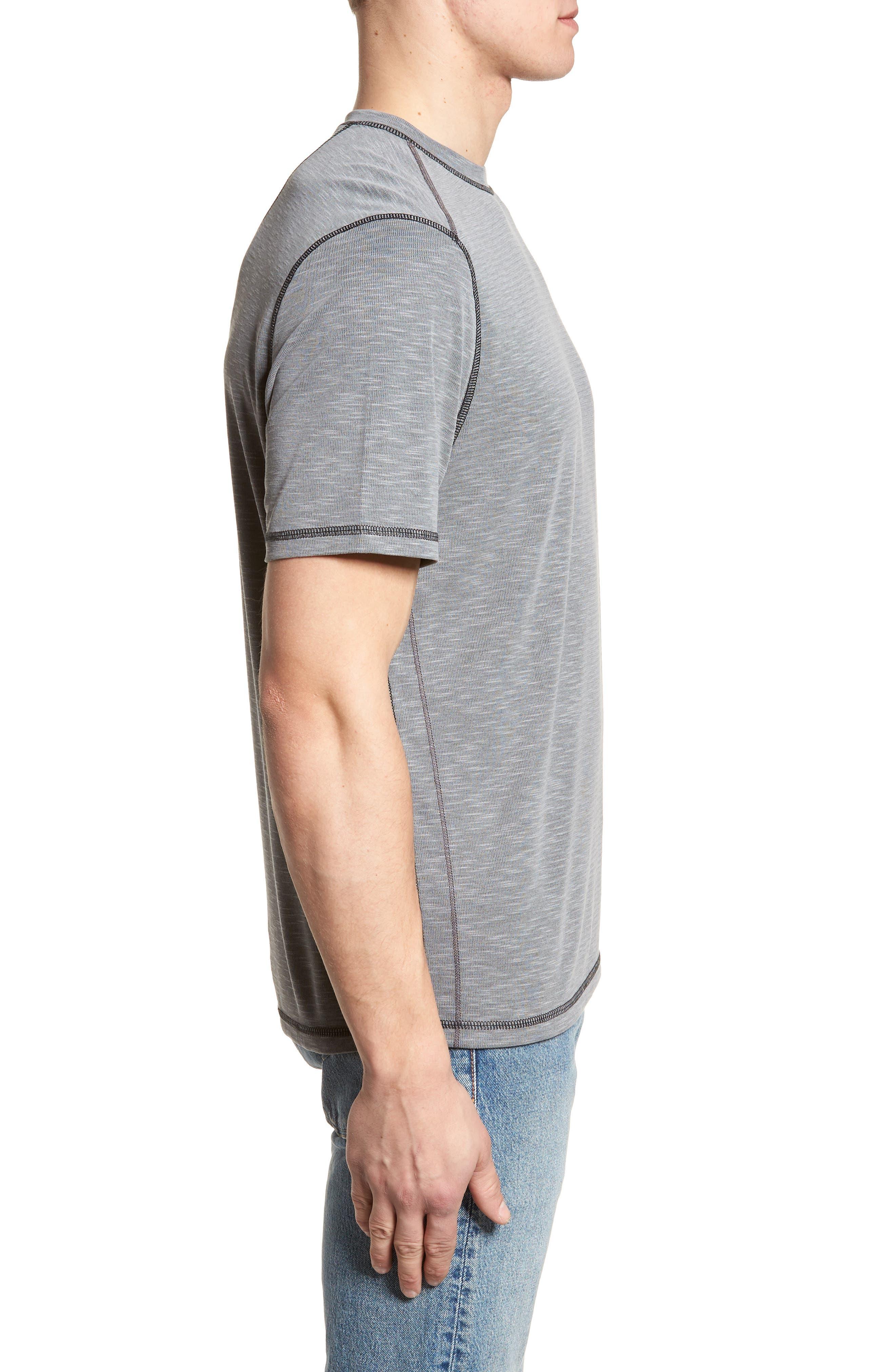 Flip Tide T-Shirt,                             Alternate thumbnail 3, color,                             COAL