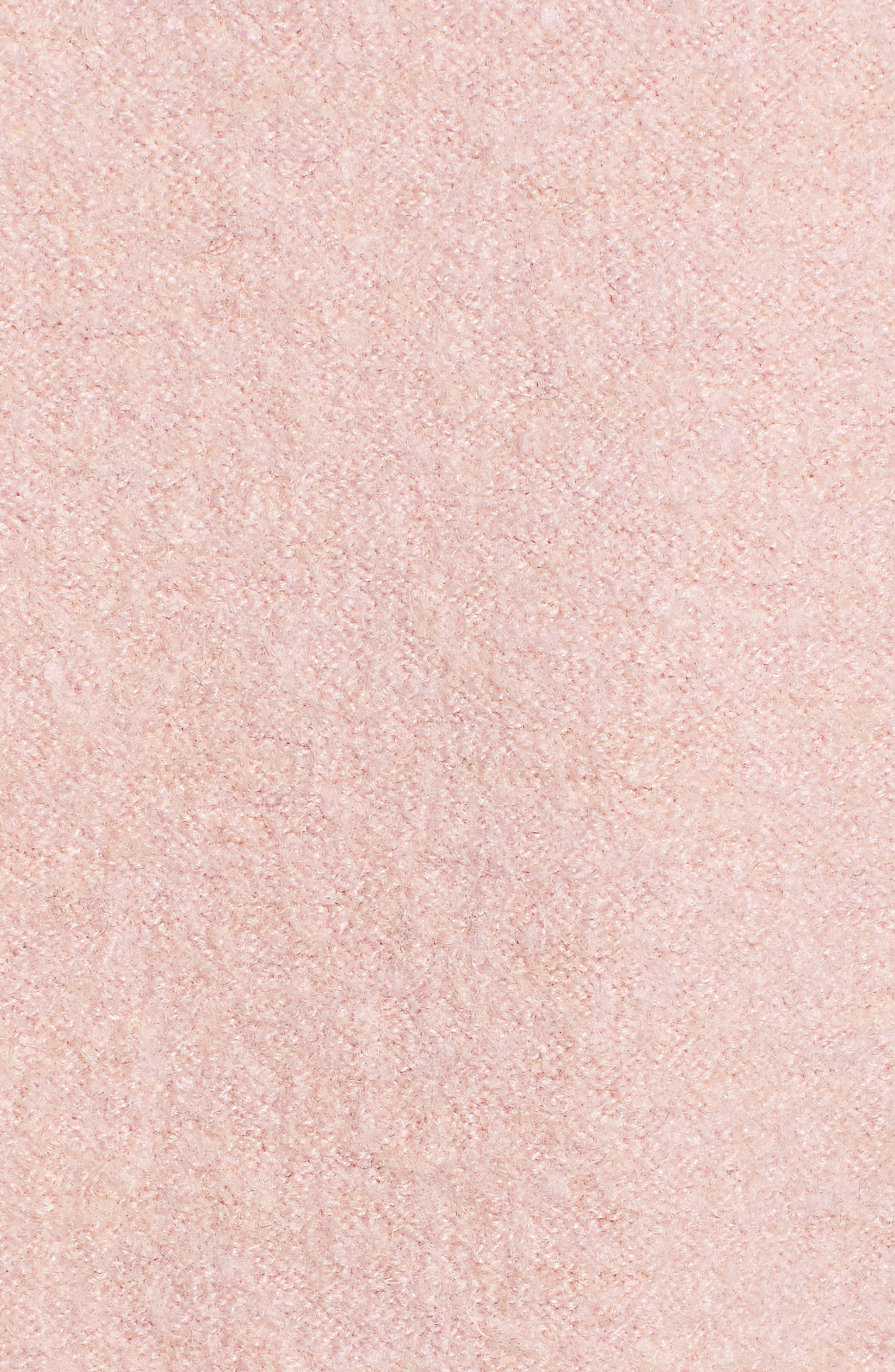Boiled Wool Blend Fit & Flare Coat,                             Alternate thumbnail 7, color,                             BLUSH