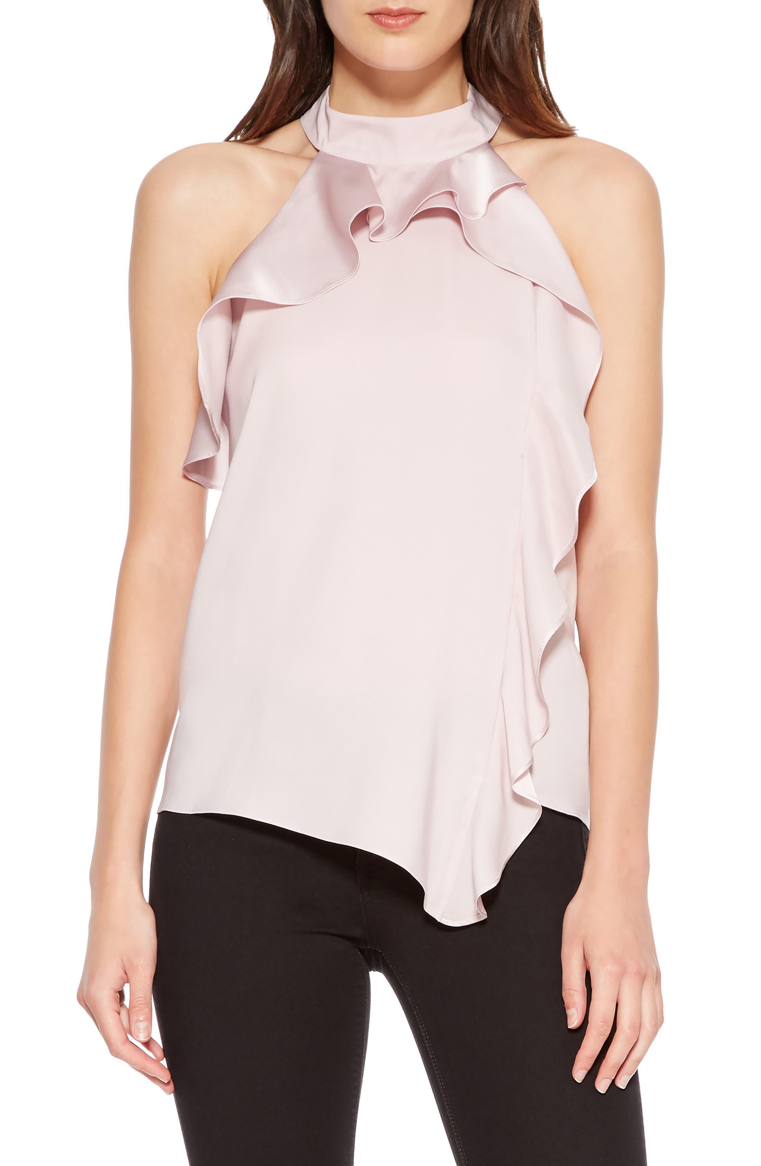 Blake Halter Style Top,                         Main,                         color, ROSE MIST