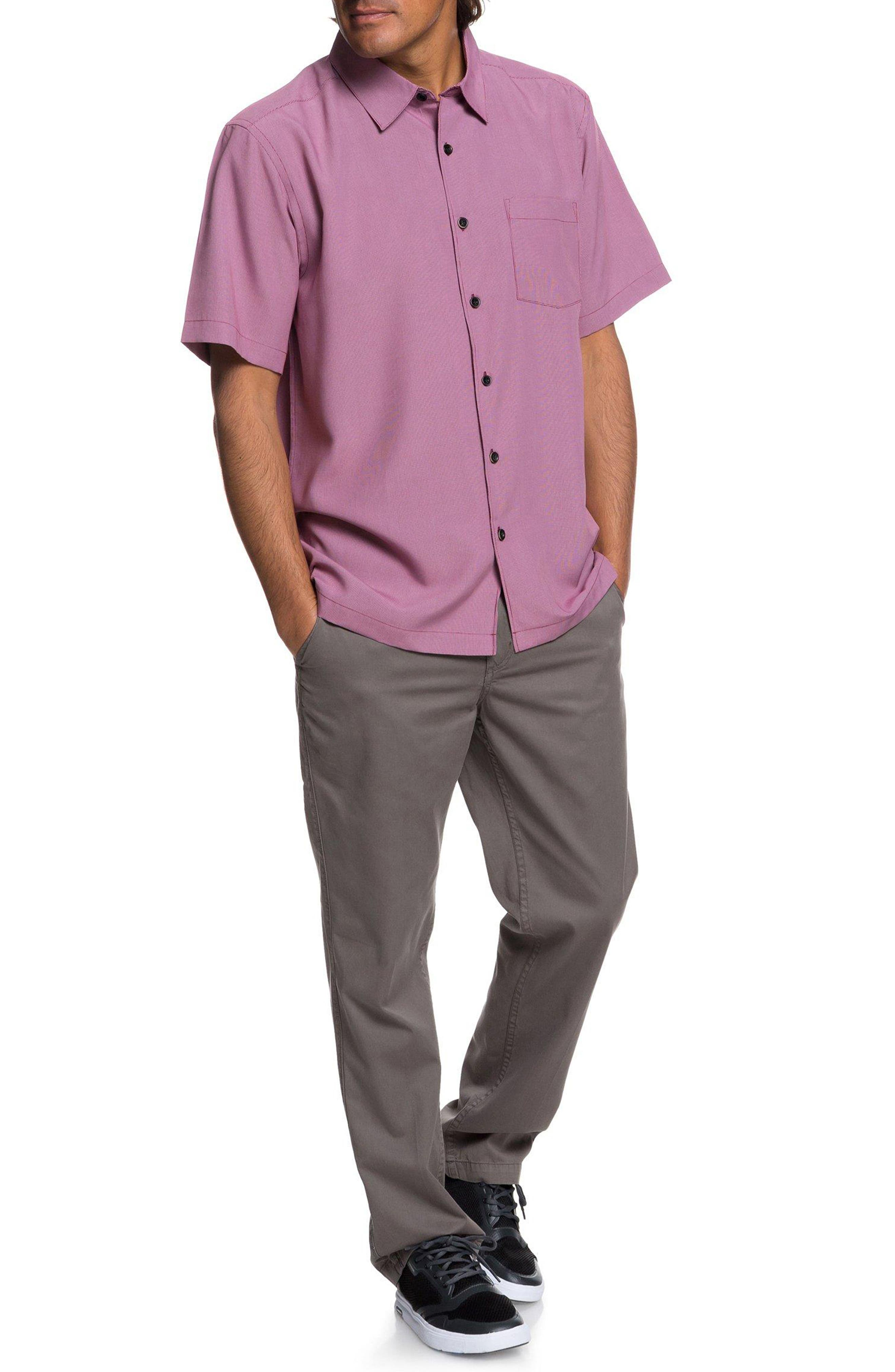 Cane Island Classic Fit Camp Shirt,                             Alternate thumbnail 7, color,                             TAWNY PORT