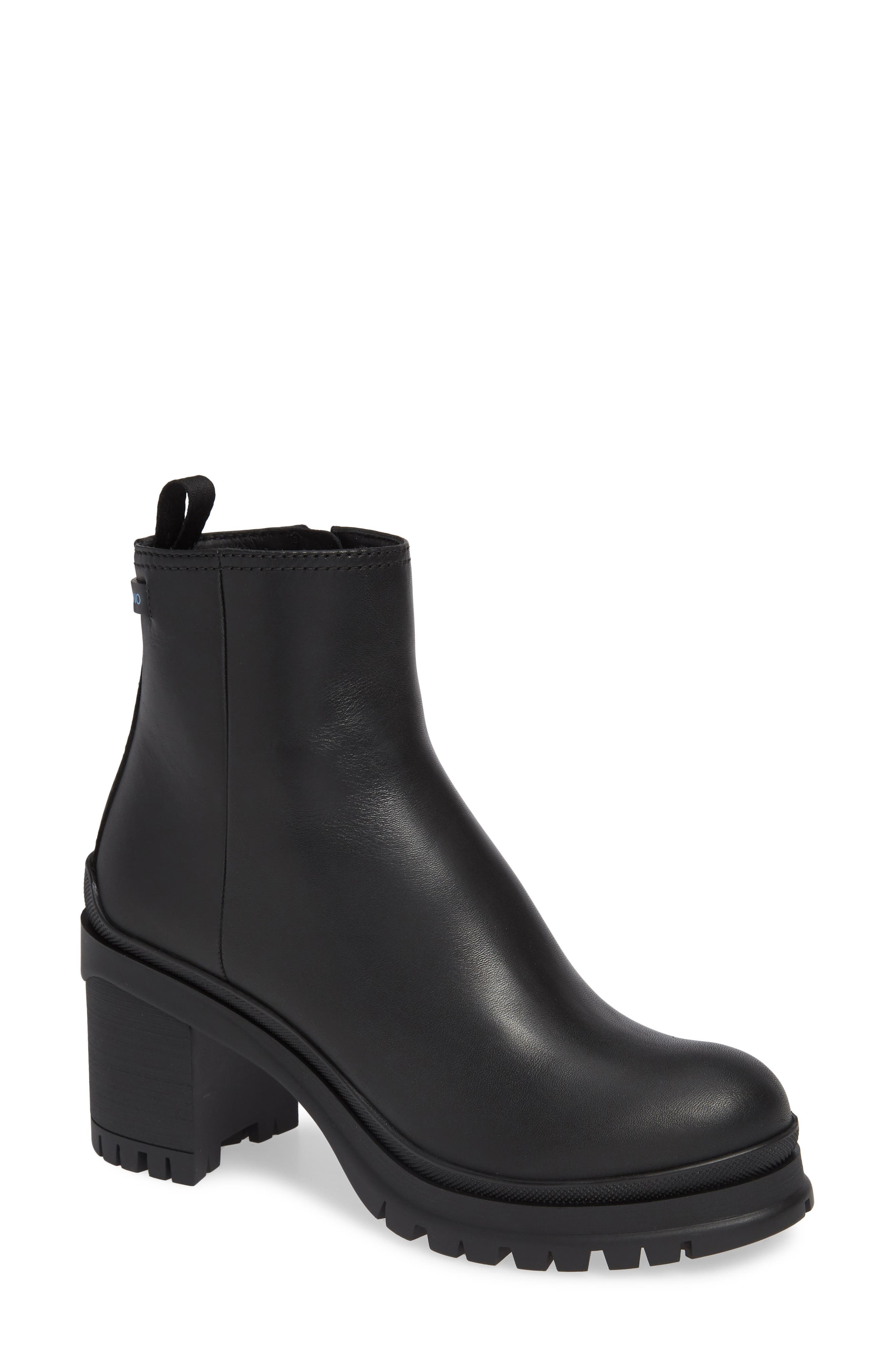 Lug Bootie,                         Main,                         color, BLACK