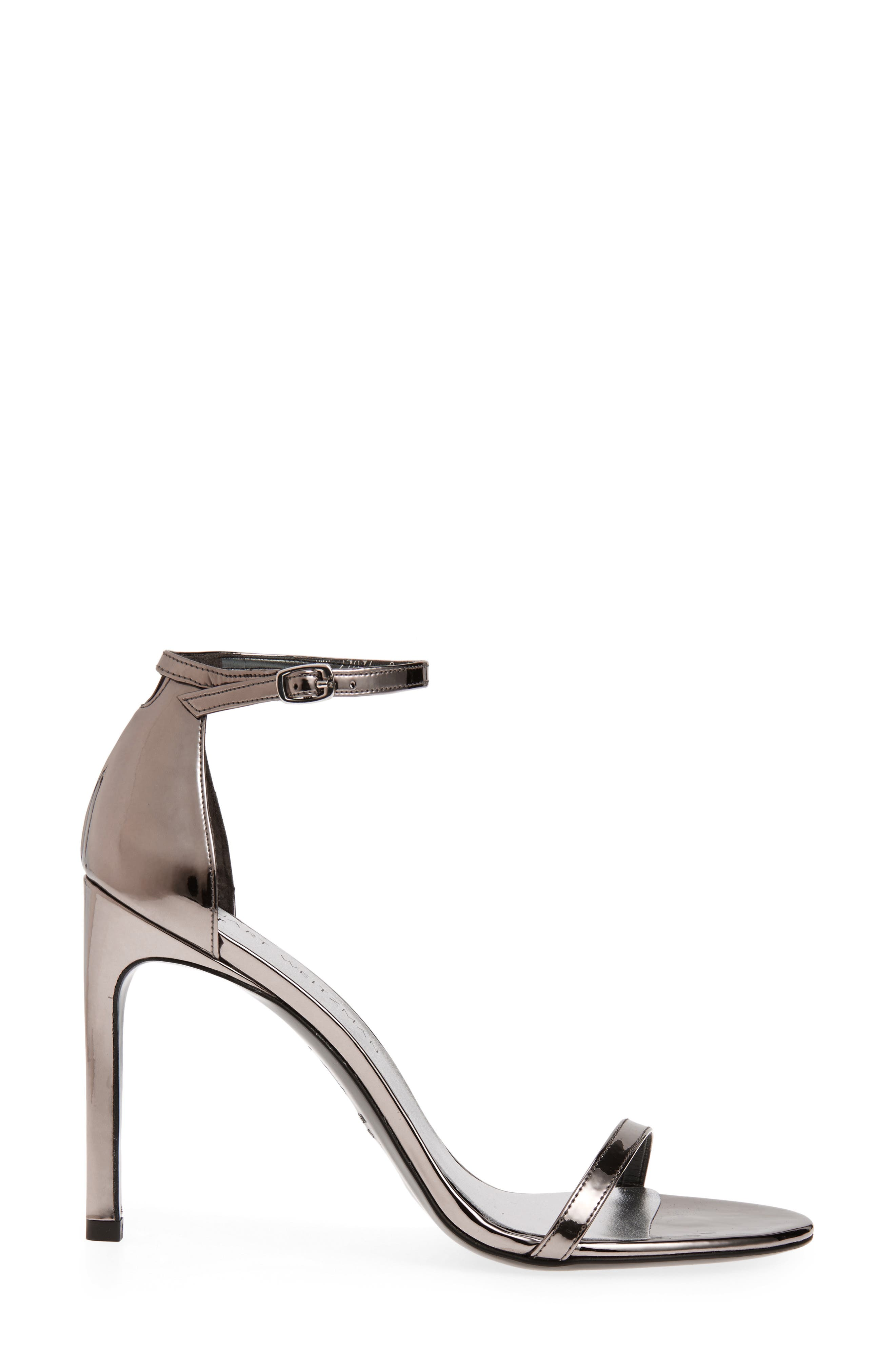 Nudistsong Ankle Strap Sandal,                             Alternate thumbnail 3, color,                             PEWTER GLASS