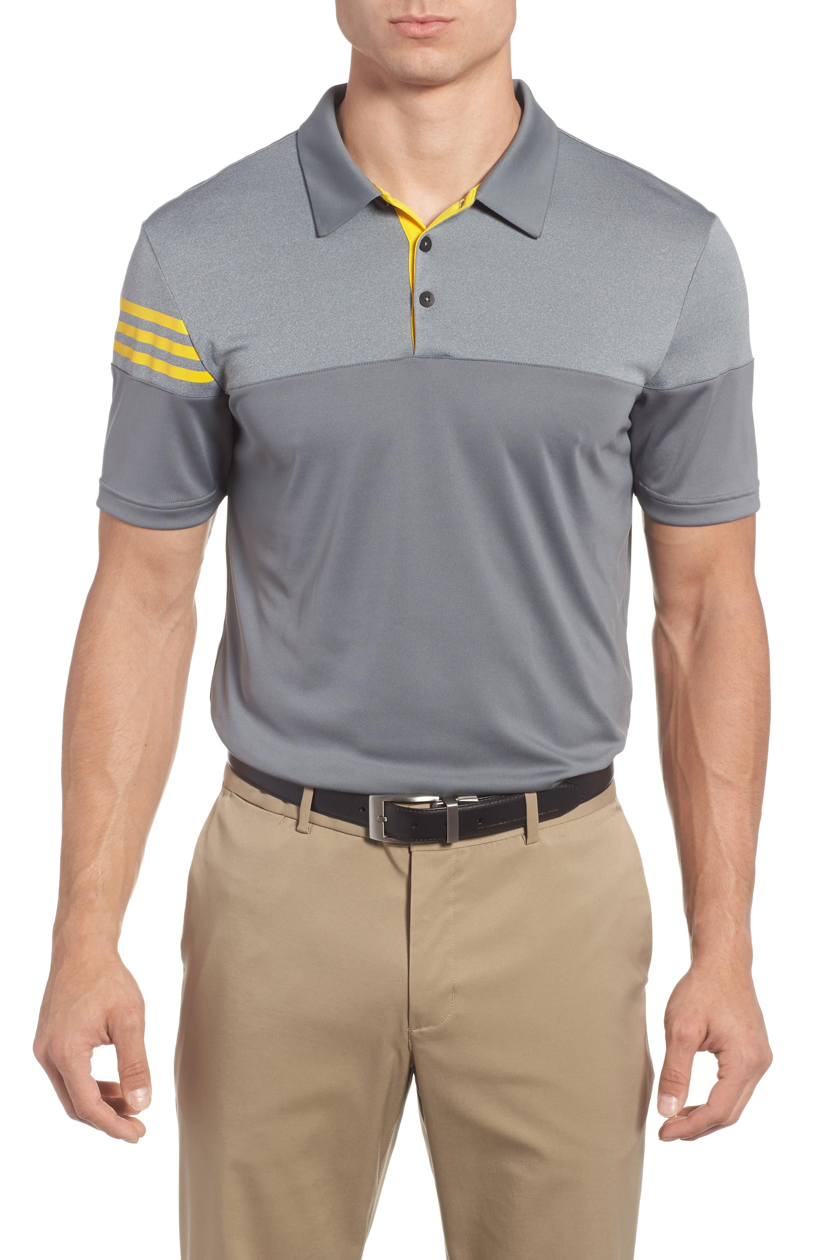 Regular Fit 3-Stripes Golf Polo,                             Main thumbnail 1, color,                             086