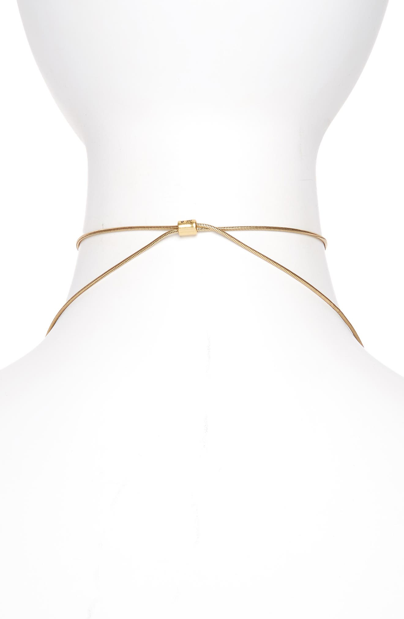 Adjustable Ring Choker Necklace,                             Alternate thumbnail 2, color,