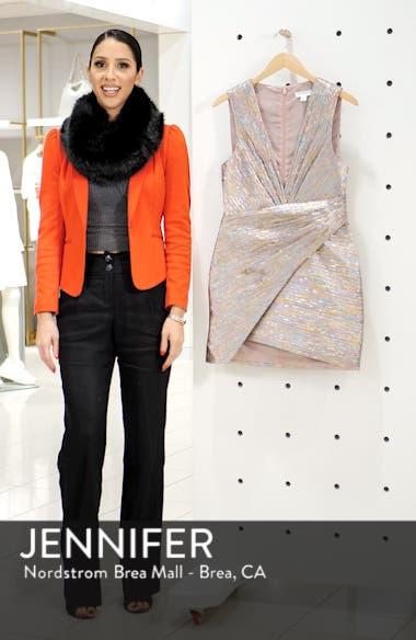 Metallic Wrap Dress, sales video thumbnail