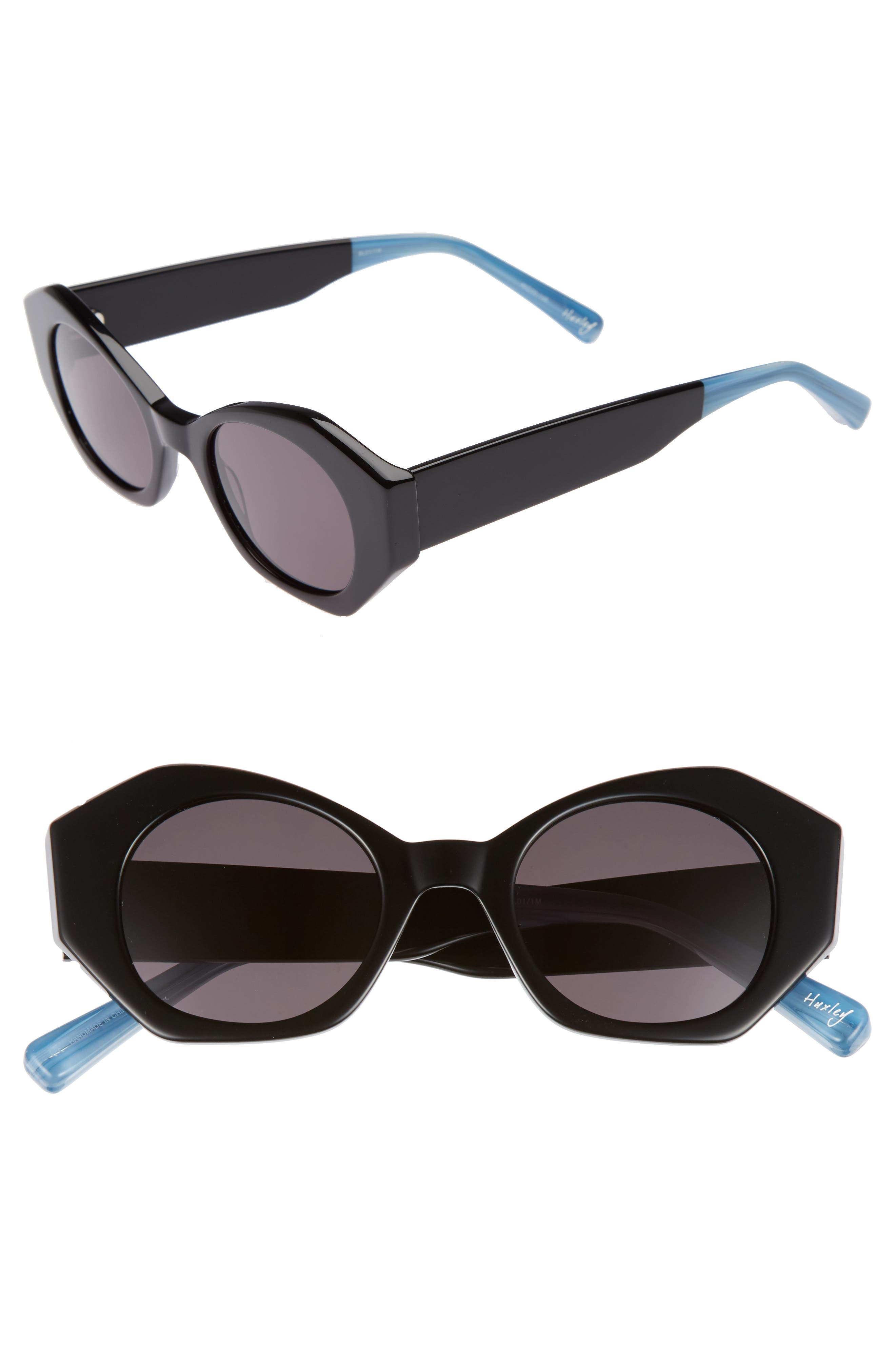 Huxley 46mm Geometric Sunglasses,                             Main thumbnail 1, color,