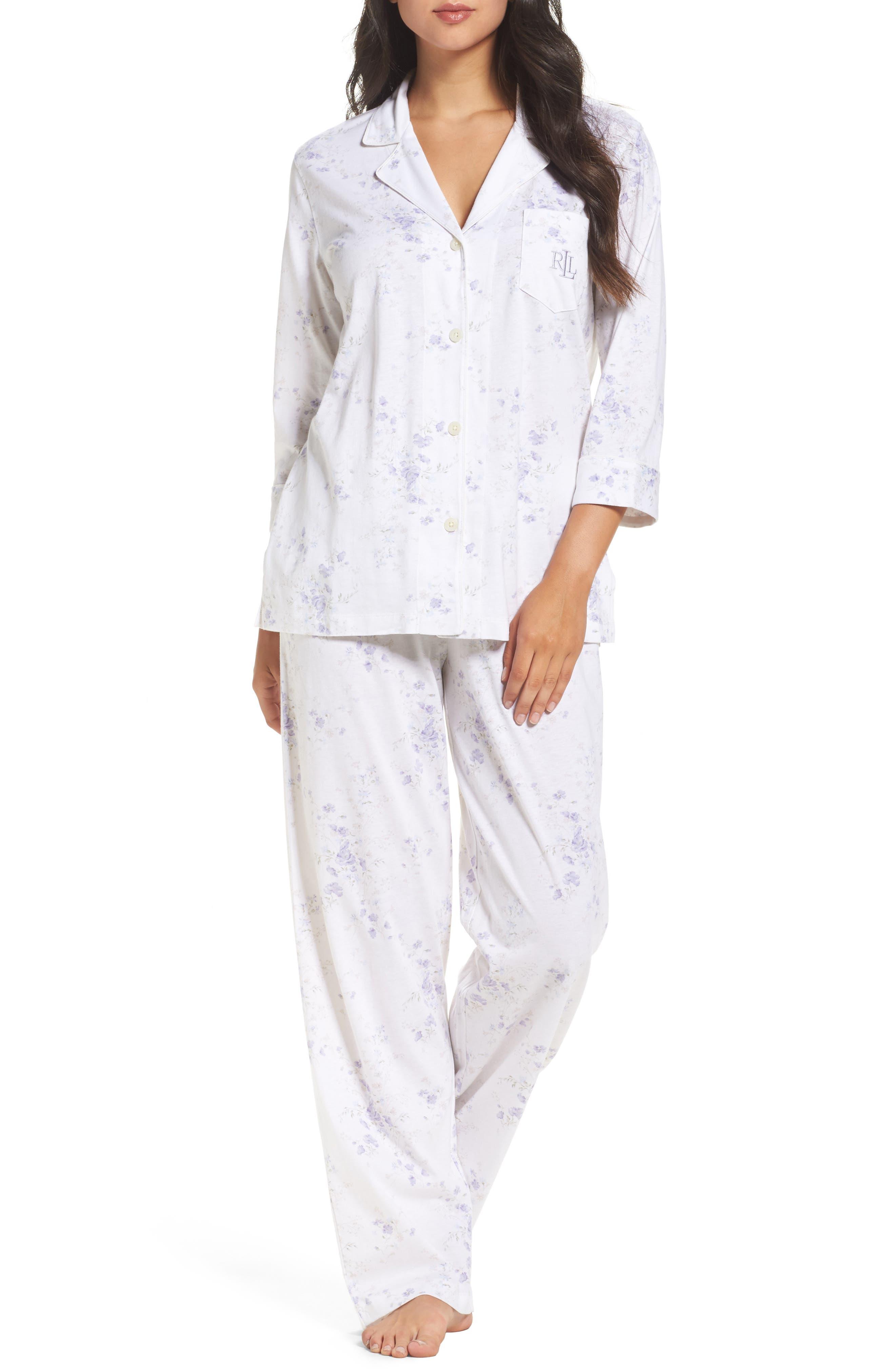 Notch Collar Pajamas,                             Alternate thumbnail 12, color,