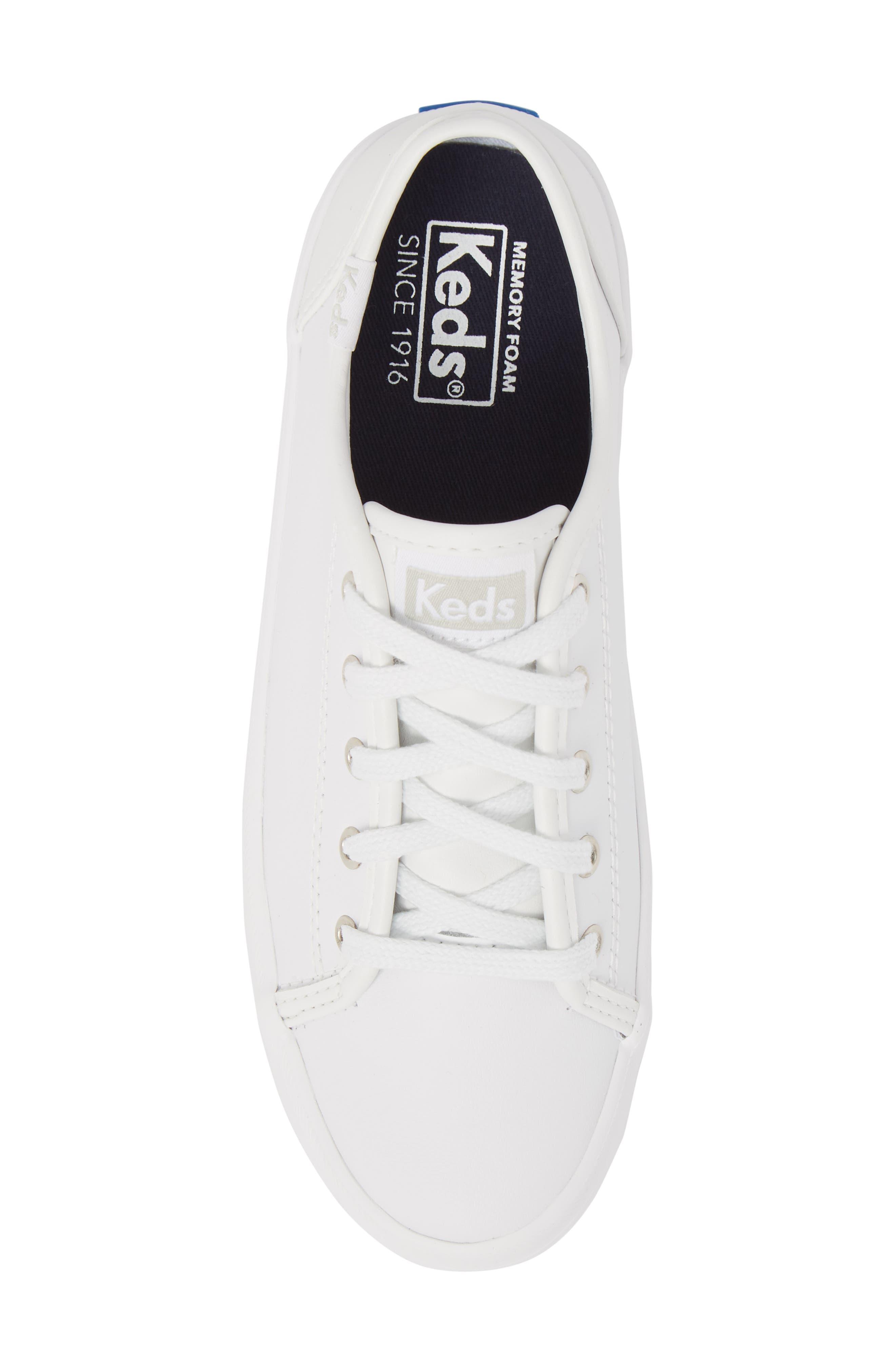 Kickstart Sneaker,                             Alternate thumbnail 5, color,                             WHITE