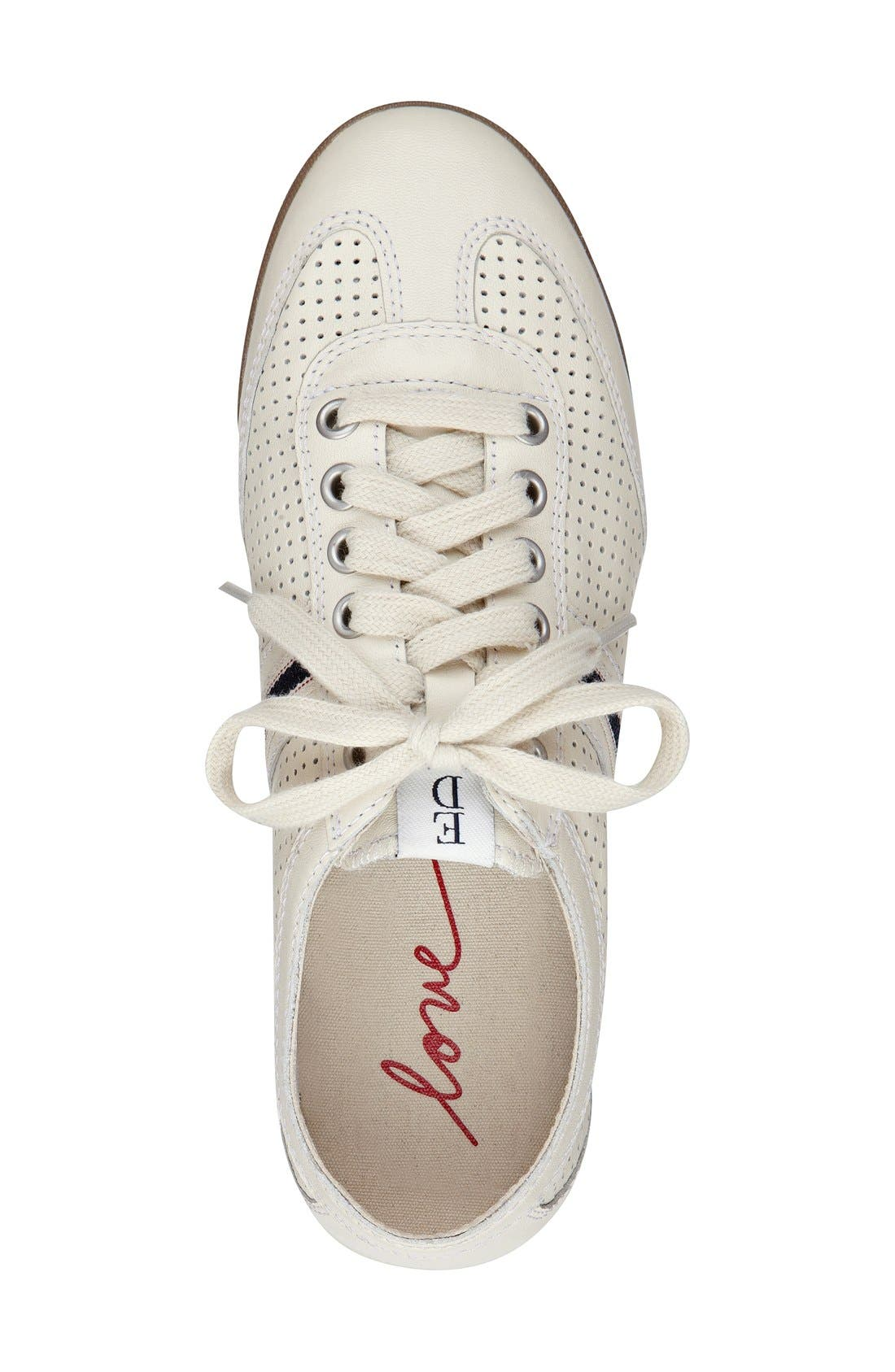 'Escondido' Sneaker,                             Alternate thumbnail 3, color,                             PALE WHITE LEATHER